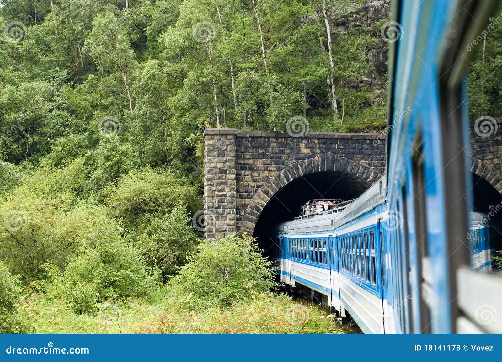 Baikal circum linii kolejowej Russia pociąg