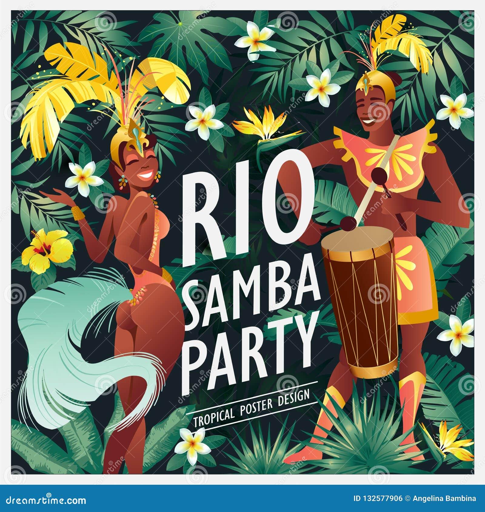 4bb4783c229a Bailarín Brasileño De La Samba El Carnaval En Las Muchachas Y El ...
