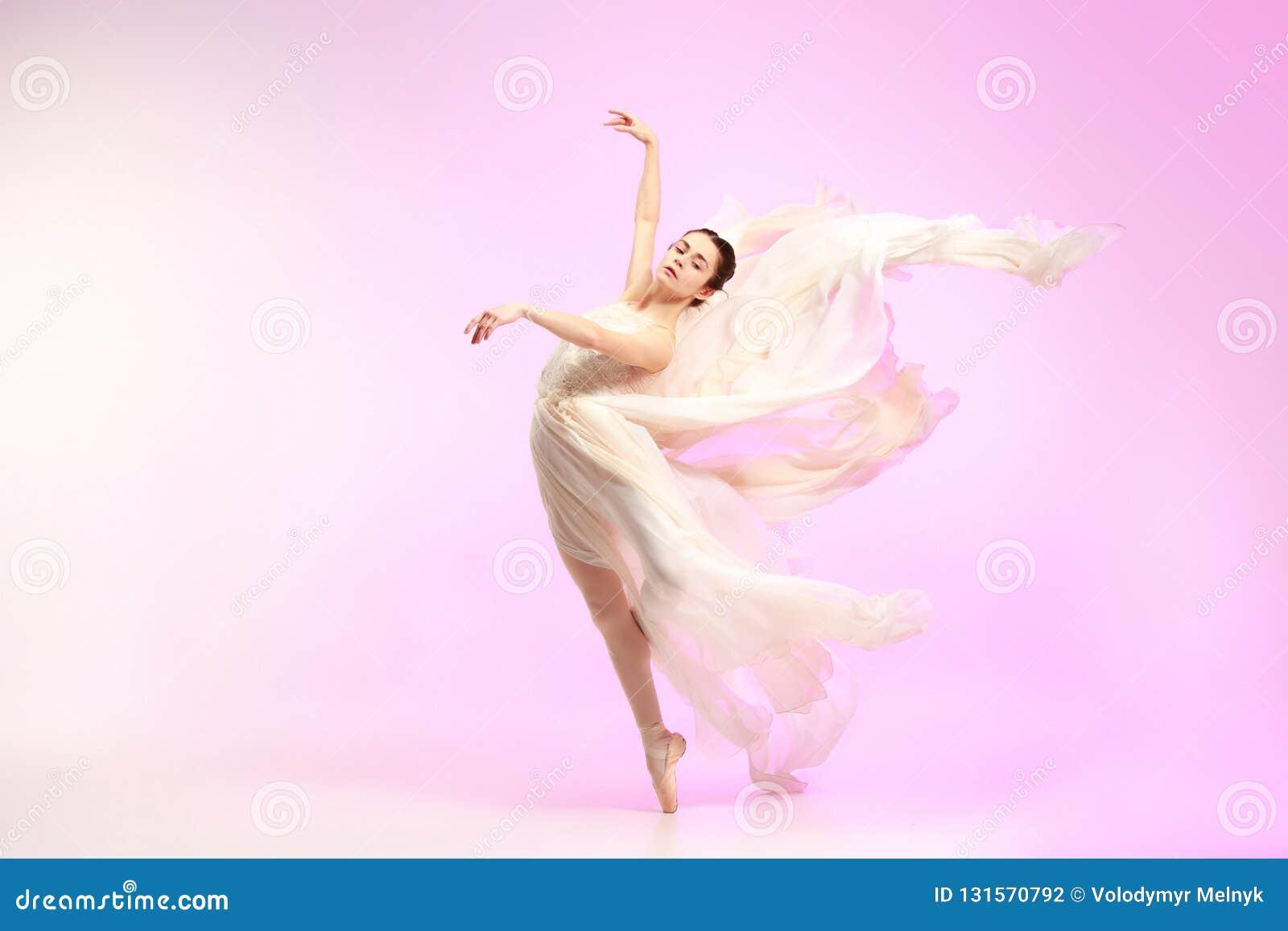 77e7bc61b Bailarina Baile Femenino Agraciado Joven Del Bailarín De Ballet ...
