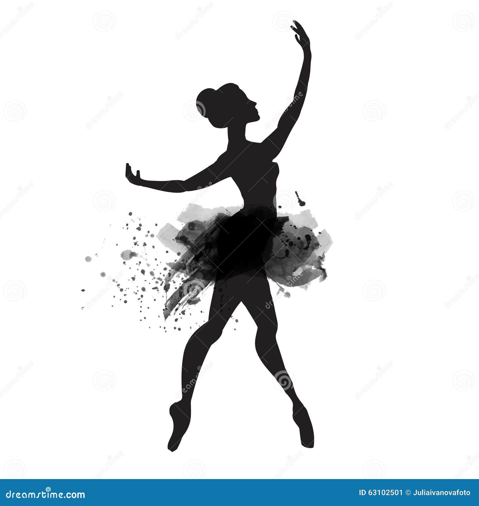 Bailarina Na Danca Vetor Da Aquarela Ilustracao Do Vetor