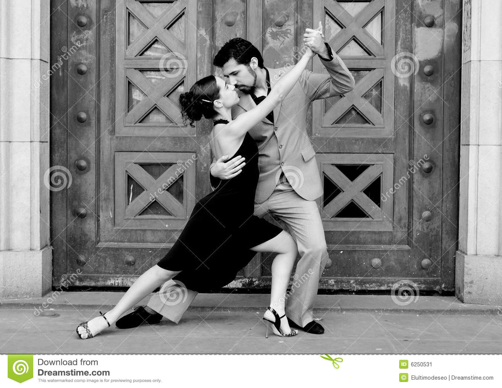 Bailarines del tango