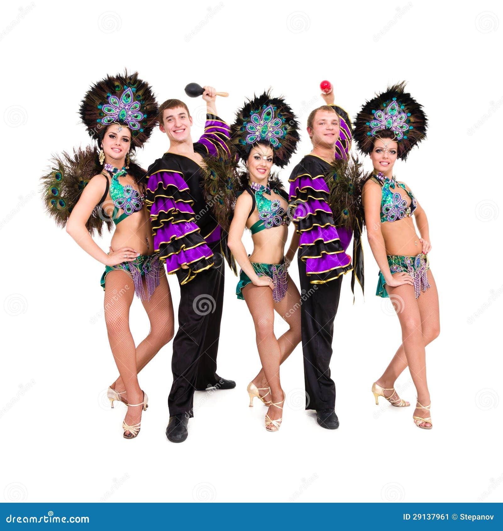 Bailarines en la presentaci n de los trajes del carnaval - Trajes de carnaval de epoca ...