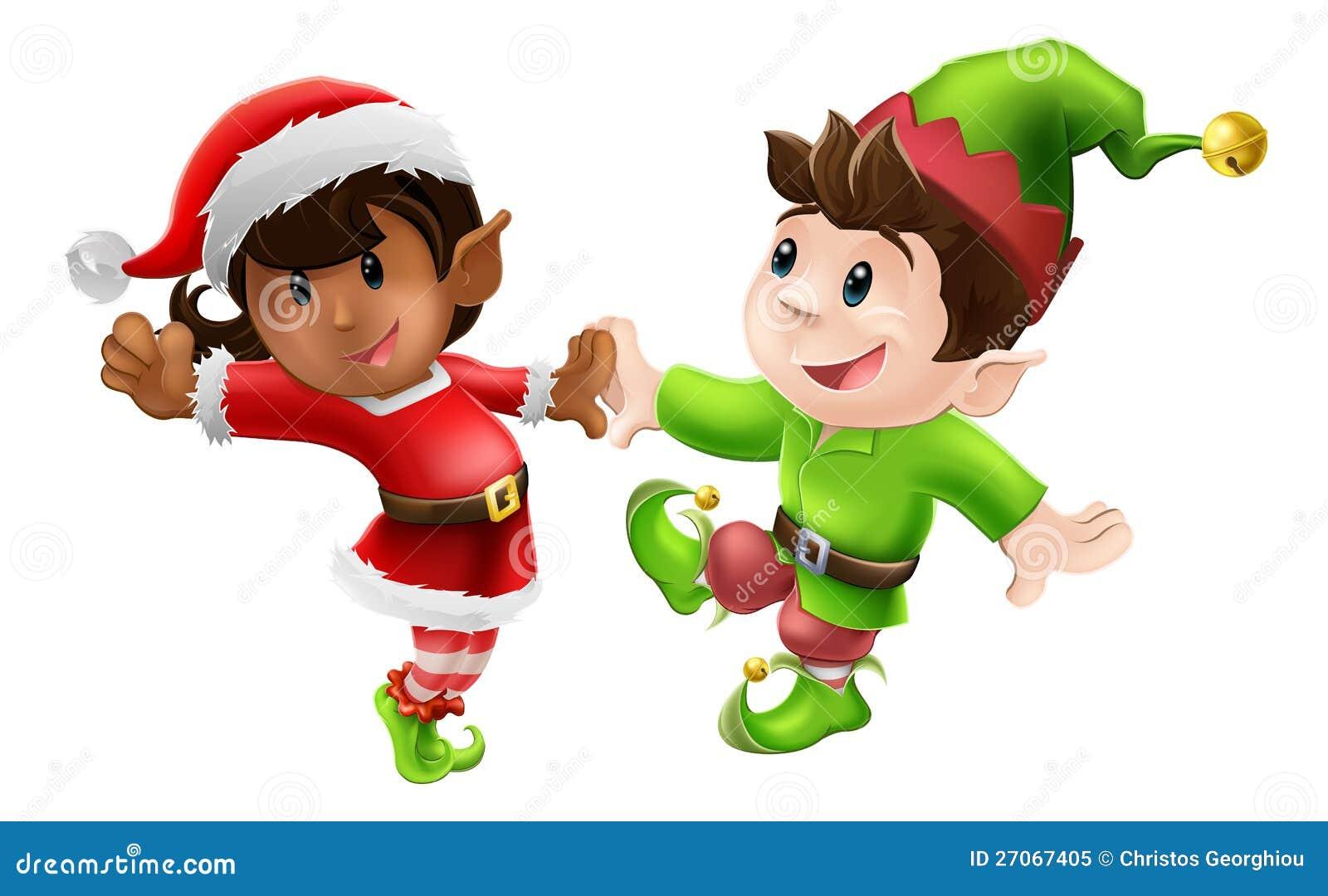 immagini elfi di babbo natale da color are