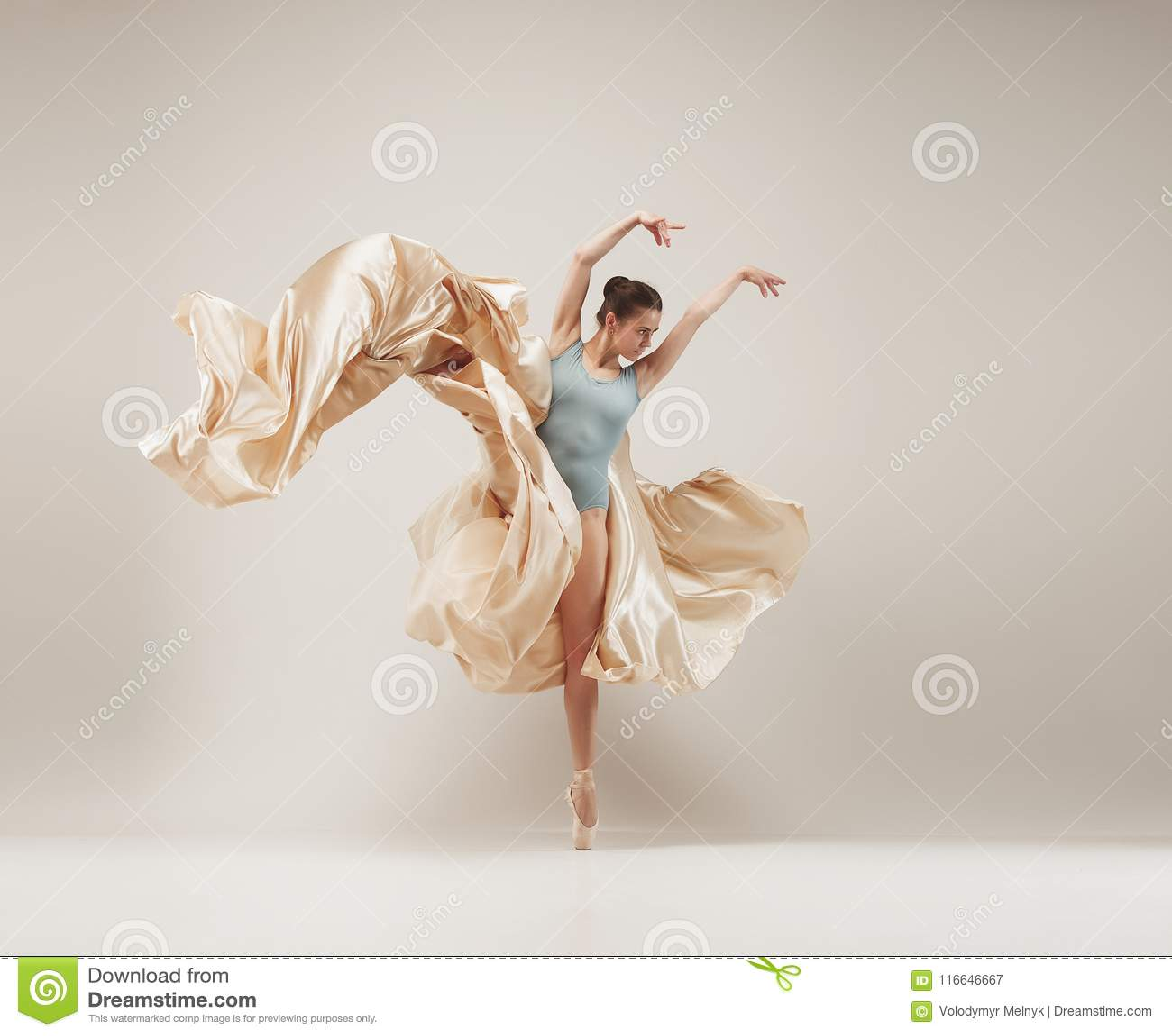 8c72fd914 Baile Del Bailarín De Ballet Moderno En Cuerpo Completo En El Fondo ...