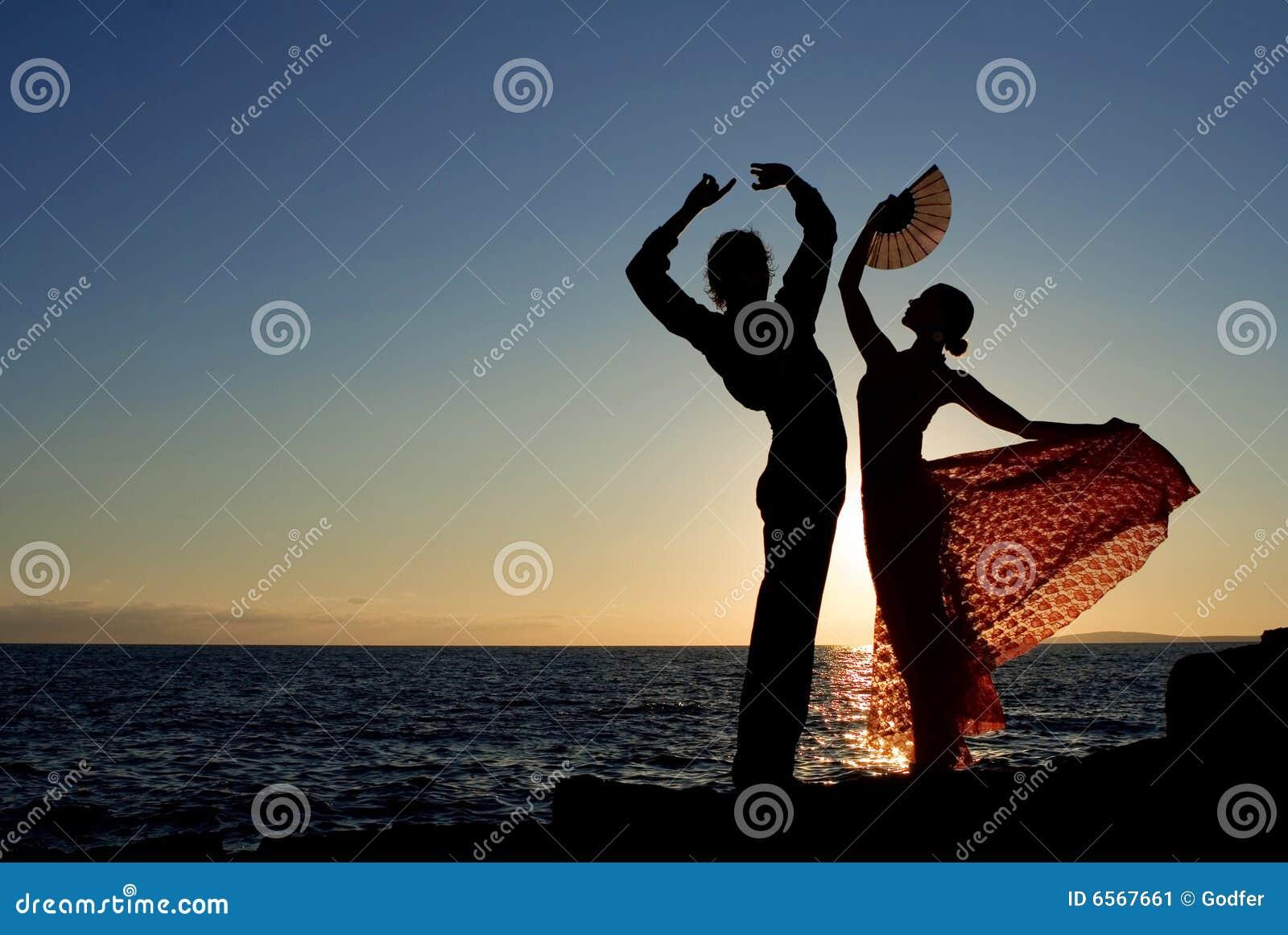 Baile español de los bailarines