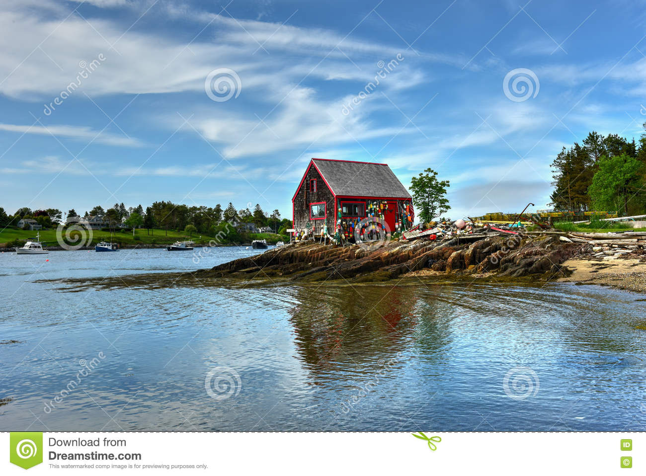 Bailey island maine stock image image of land outdoors for Who sells fishing license near me