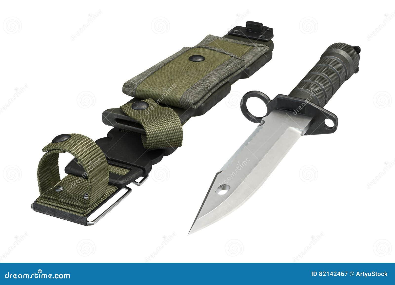 a86dbe1c3e Ferramenta metálica da caça da bainha do verde do exército da faca rendição  3d. Mais ilustrações de stock similares