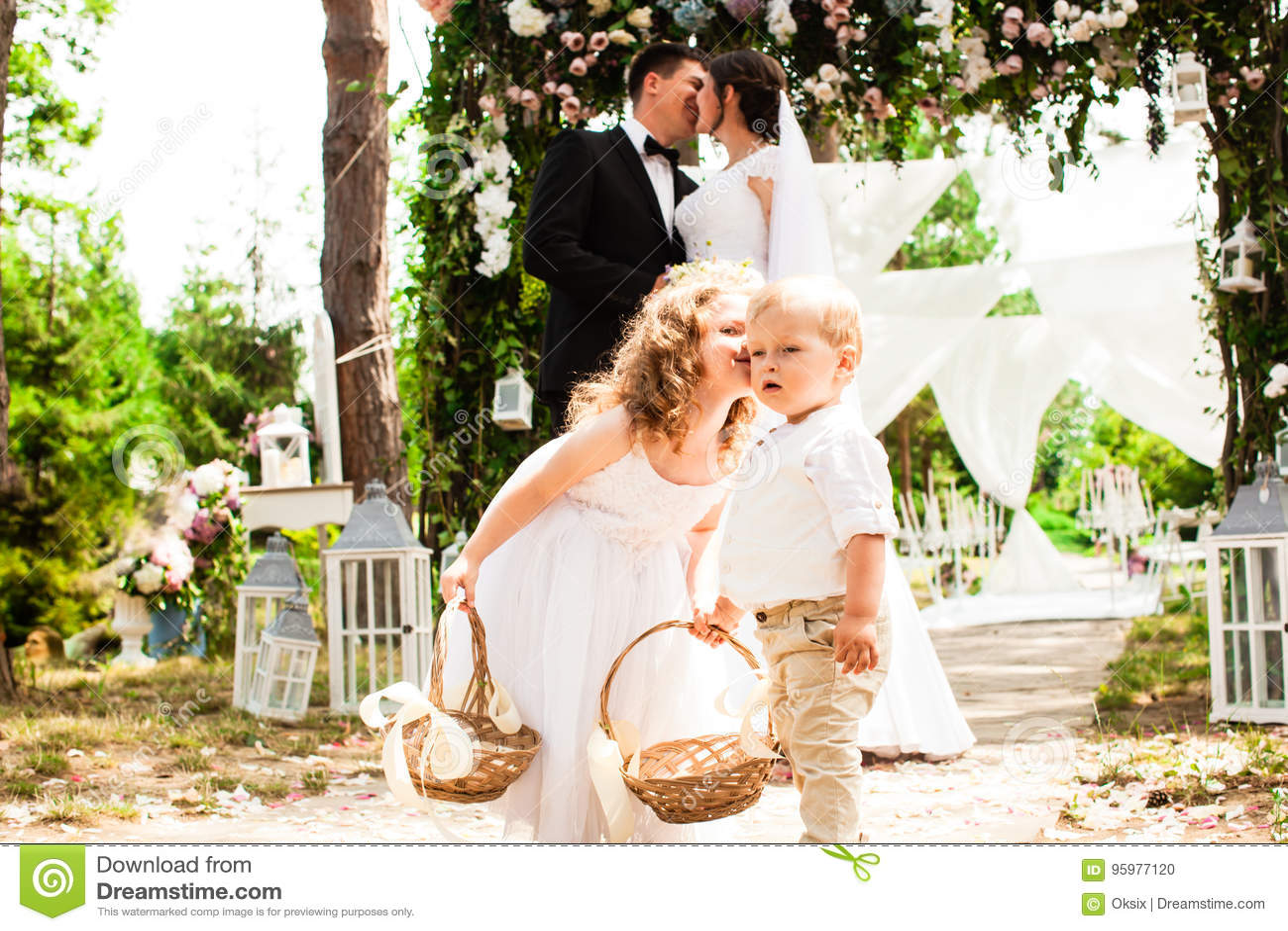 Baisers de mariée et de marié