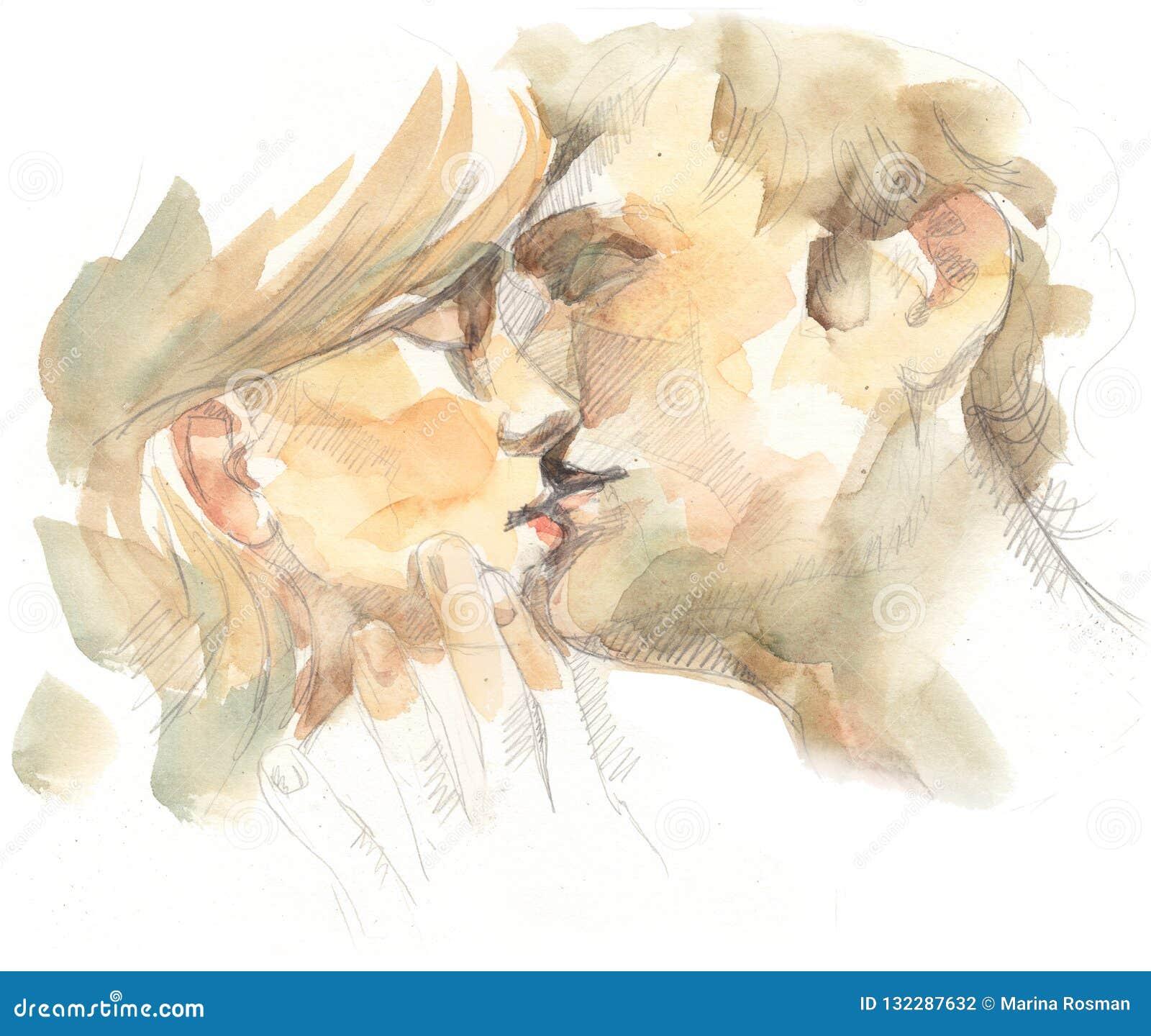 Baisers du portrait de couples