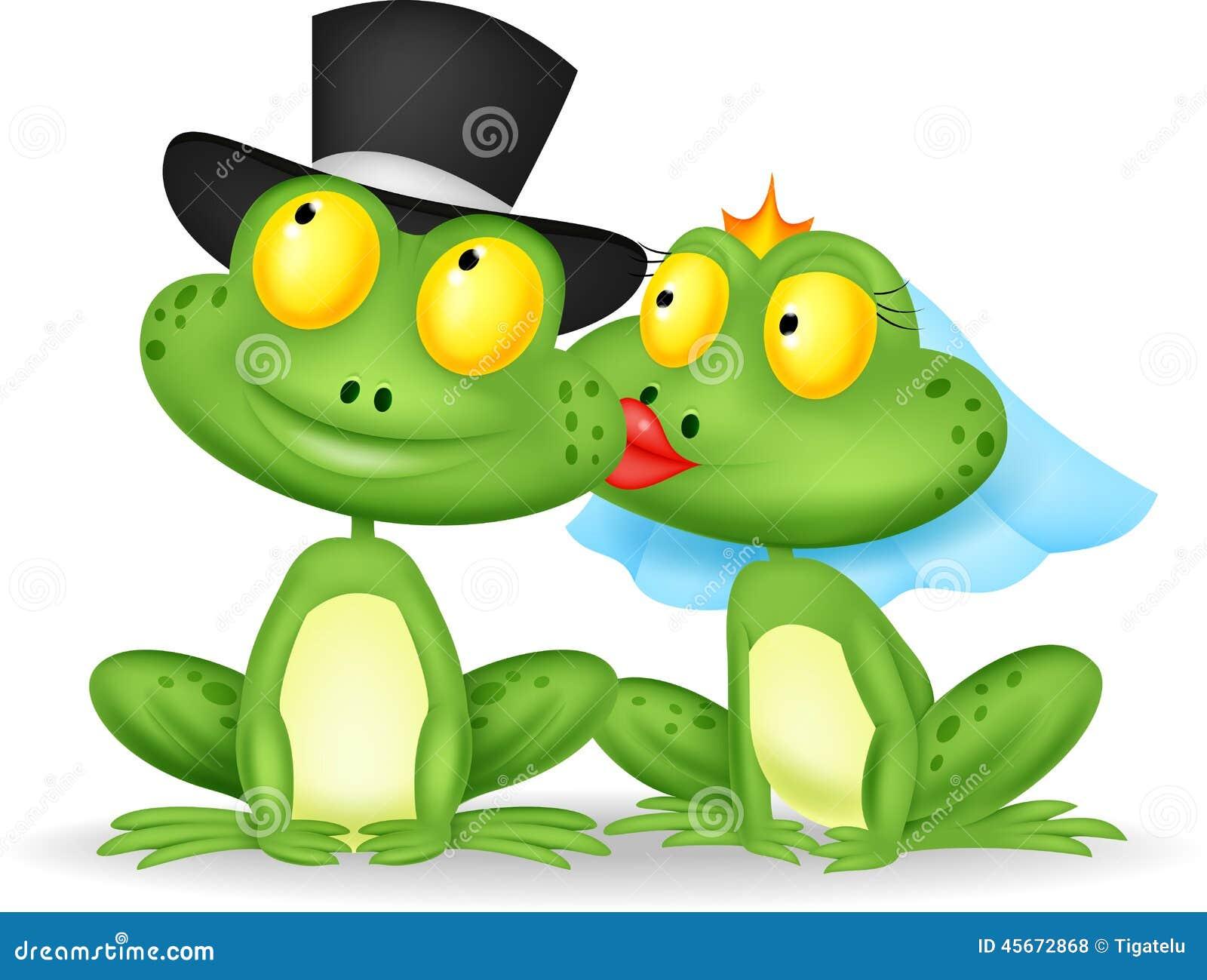 Baisers mariés de grenouille