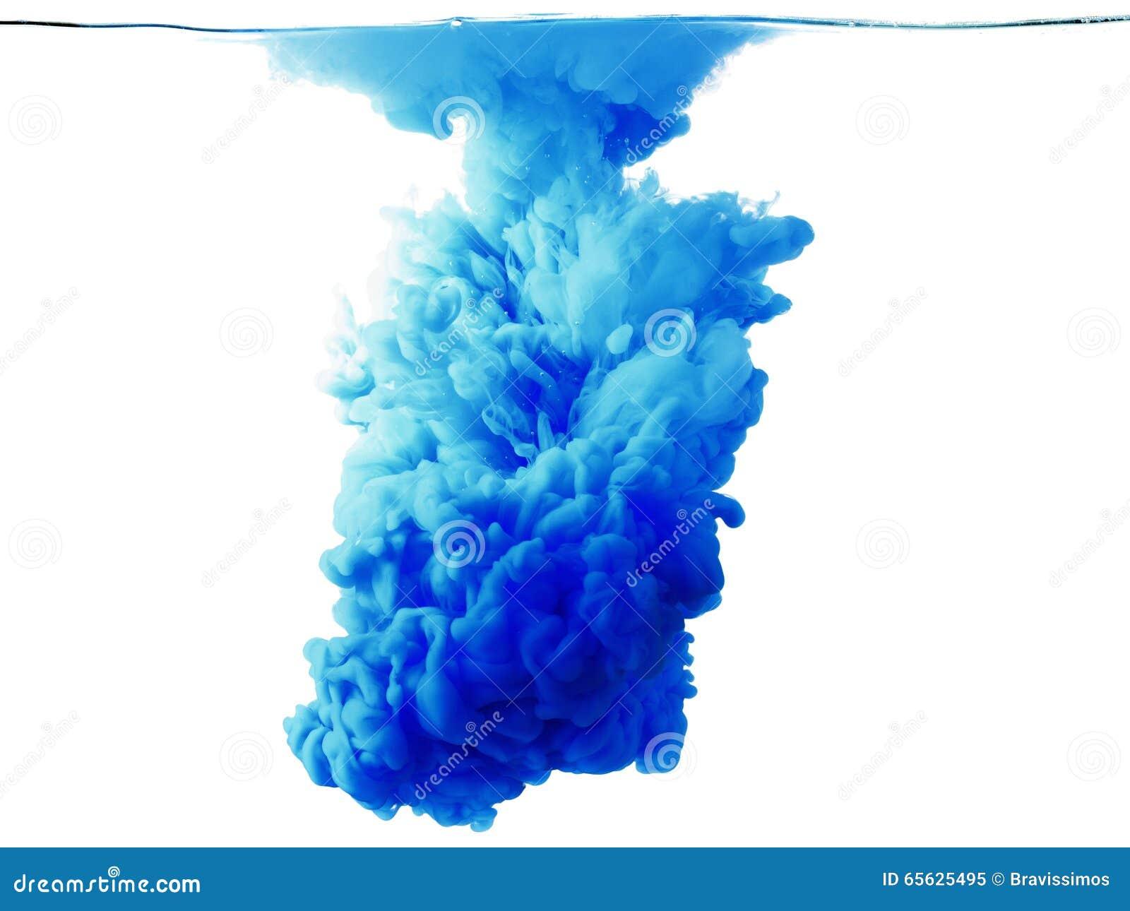 Baisse de couleur dans l eau, mouvement photographié
