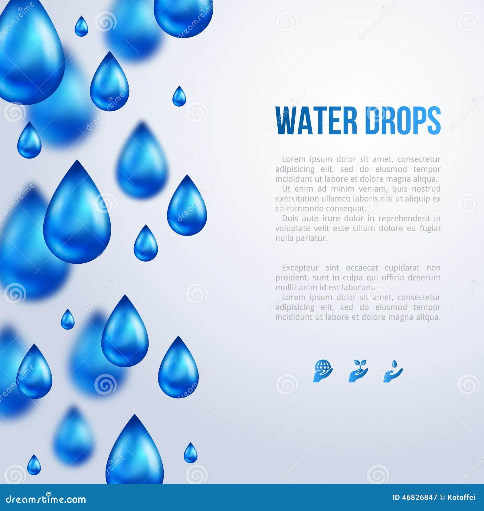 Baisses de l eau Illustration de vecteur Jour pluvieux