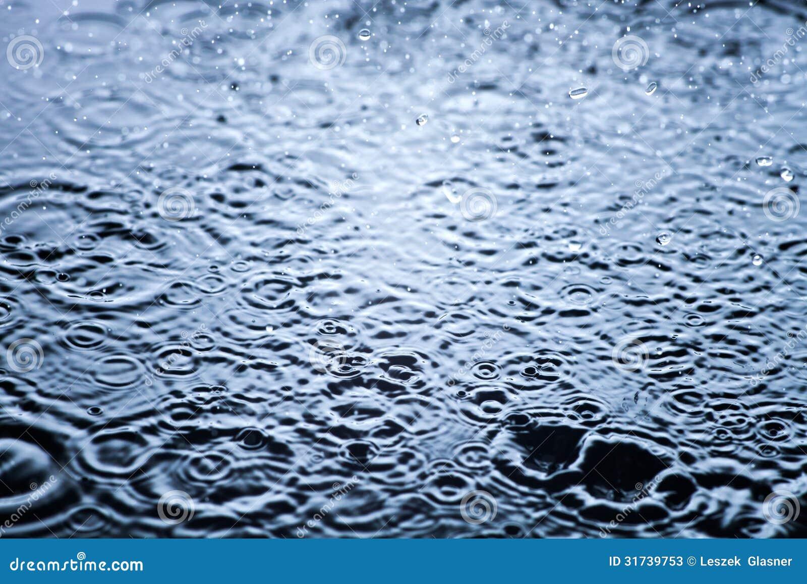 Baisses de pluie dans la fin de l eau, fond