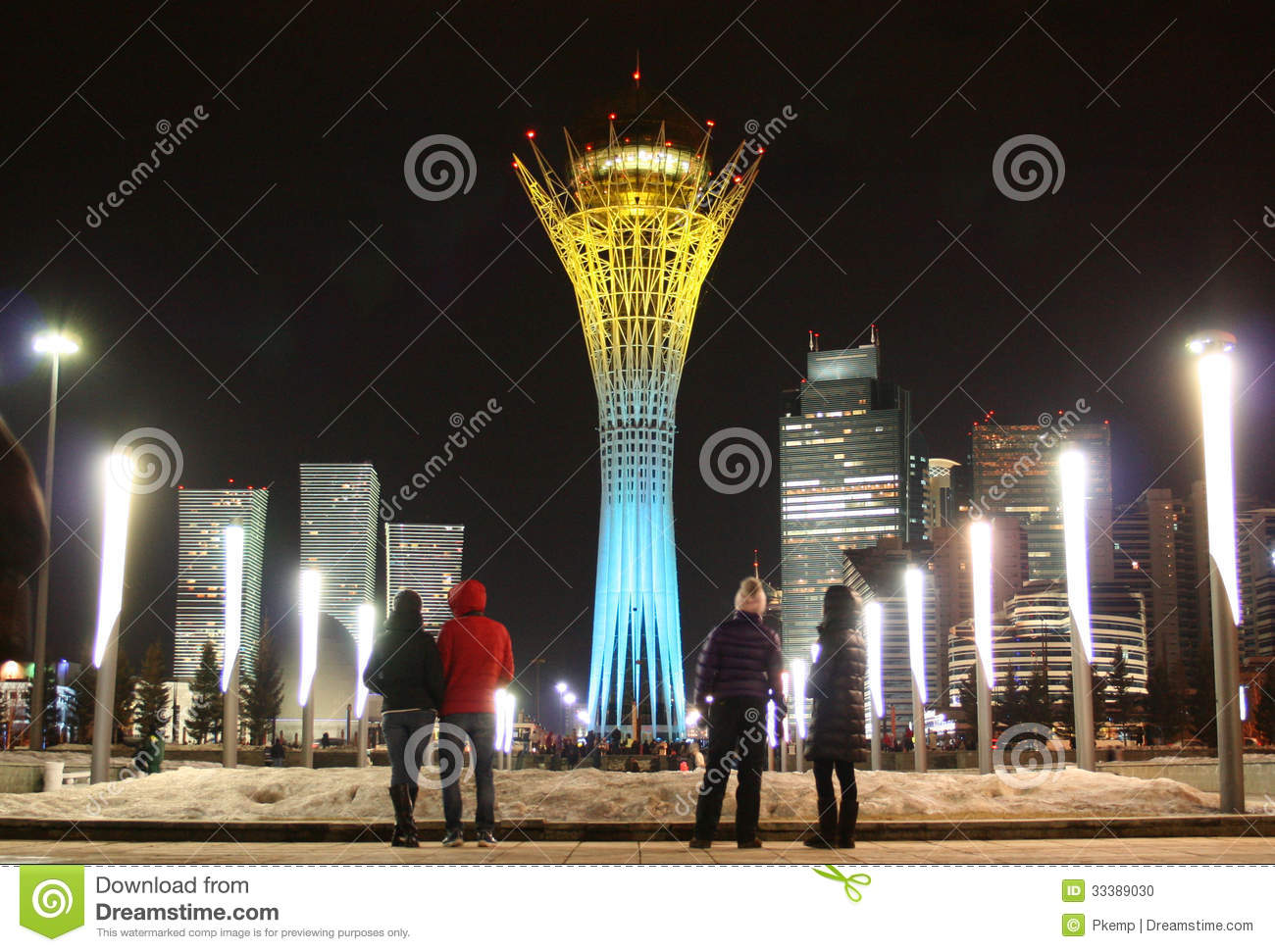 The baiterek astana in national colours stock photo for Lit national