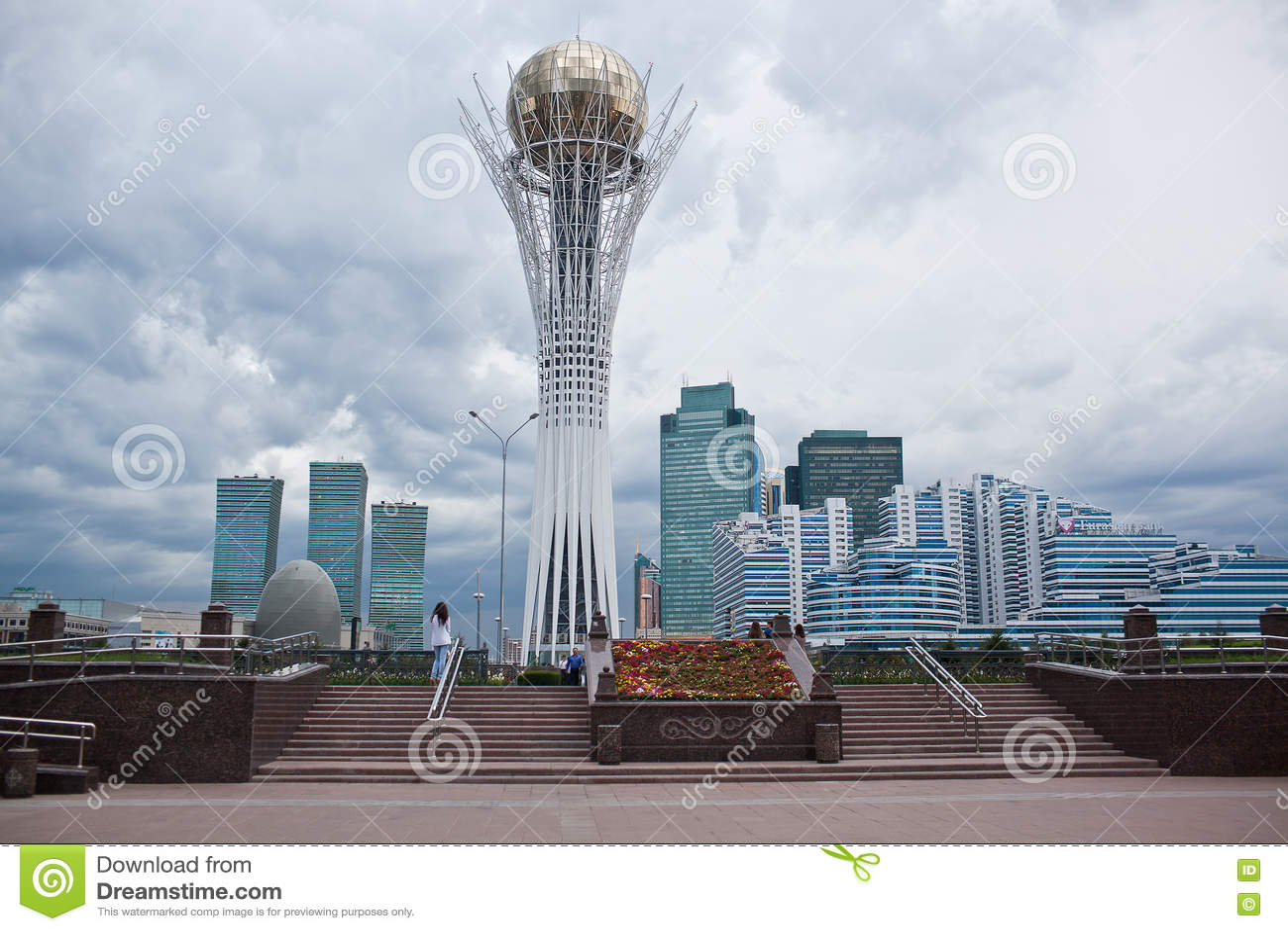Baiterek - A Monument In The Capital Of Kazakhstan, Astana ...