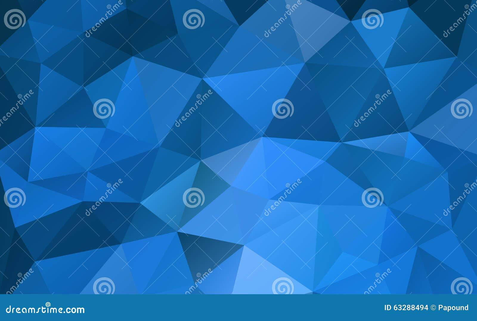Baixo estilo poli emaranhado geométrico abstrato azul do fundo triangular