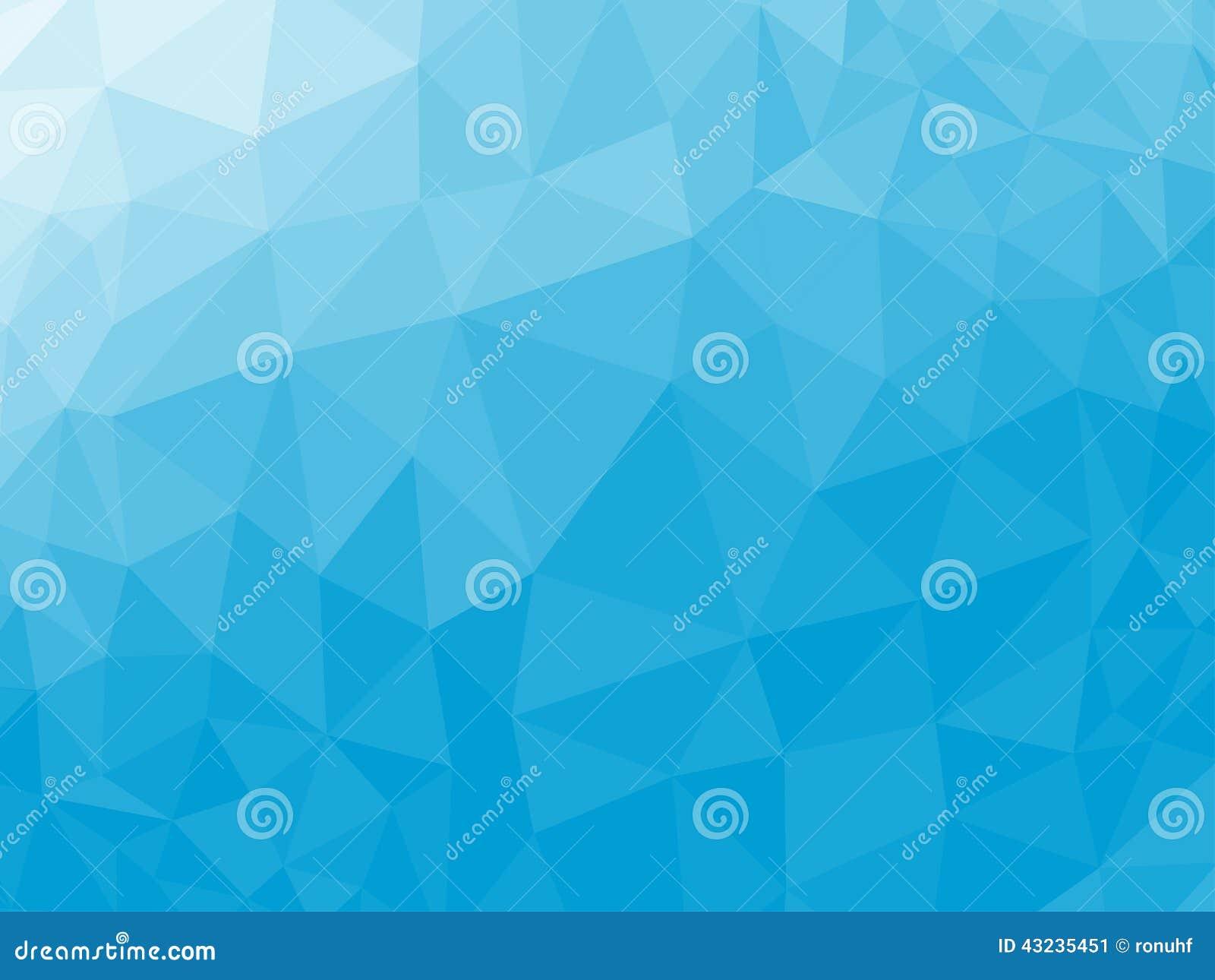 Baixo fundo poli triangular emaranhado geométrico abstrato azul do gráfico da ilustração do vetor do estilo