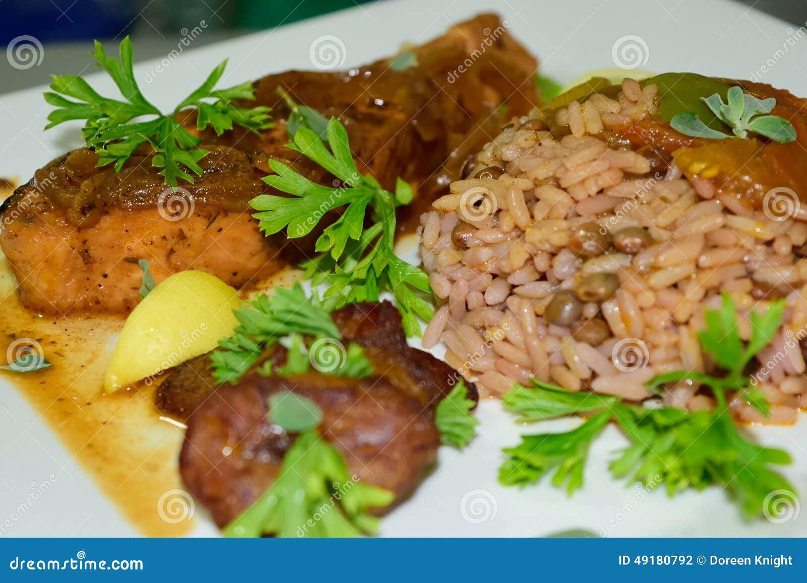 Bajan Rice and Pigeon Peas