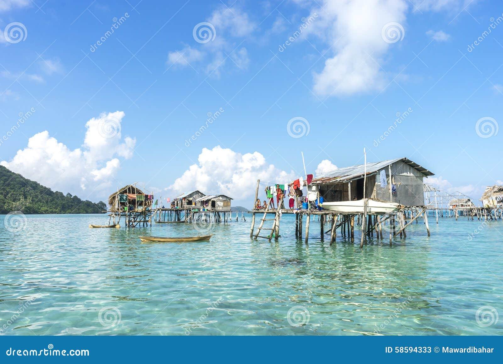 Bajau Laut House Stock Image Image Of Bisayuk Bajau