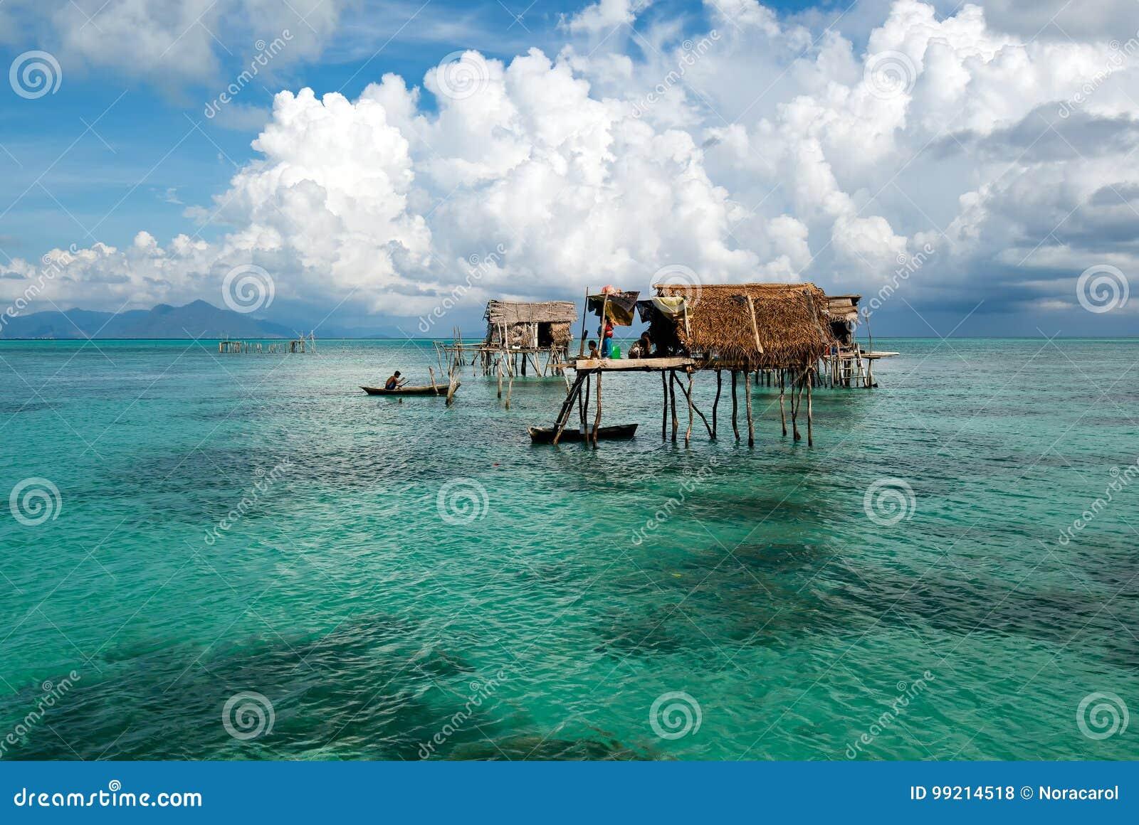 Bajau laut stijf huis