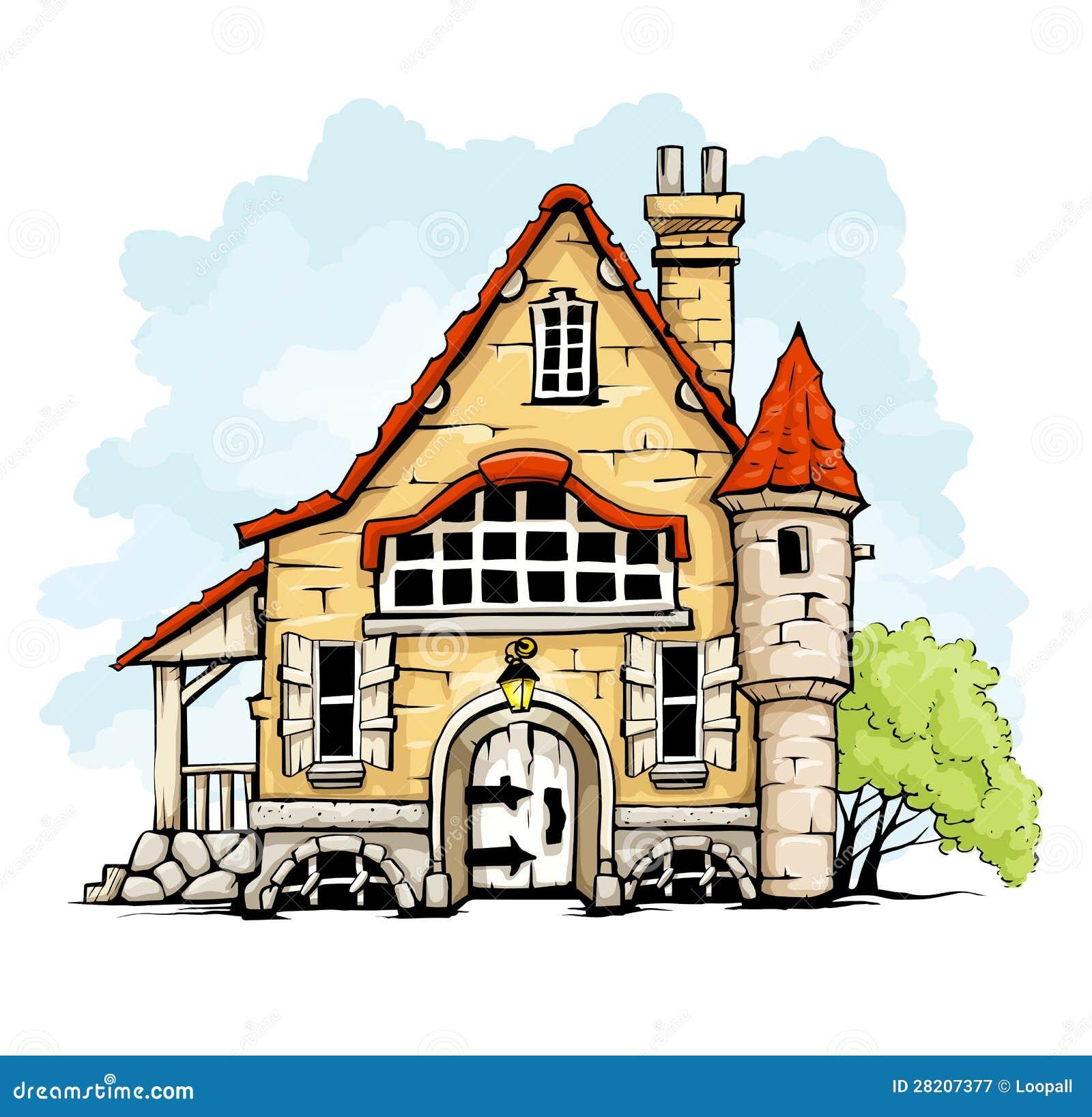 Bajka stary dom w retro stylu