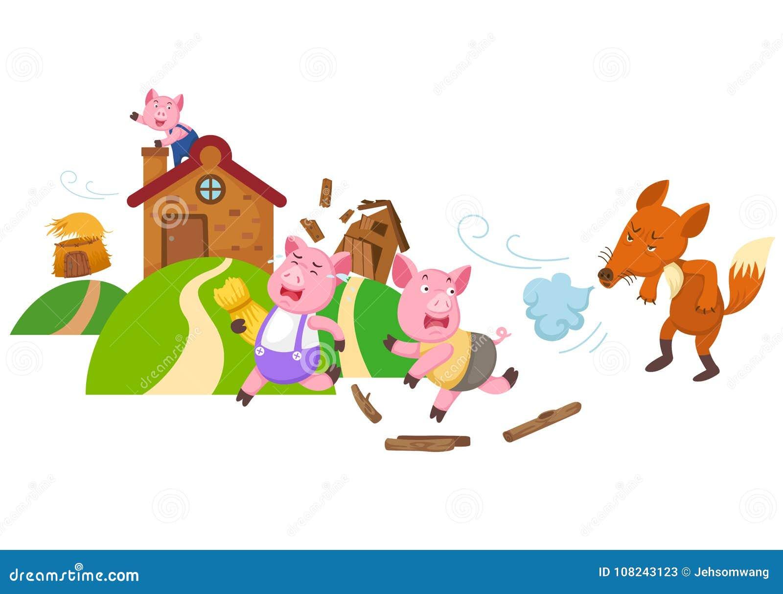Bajki trzy małe świnie