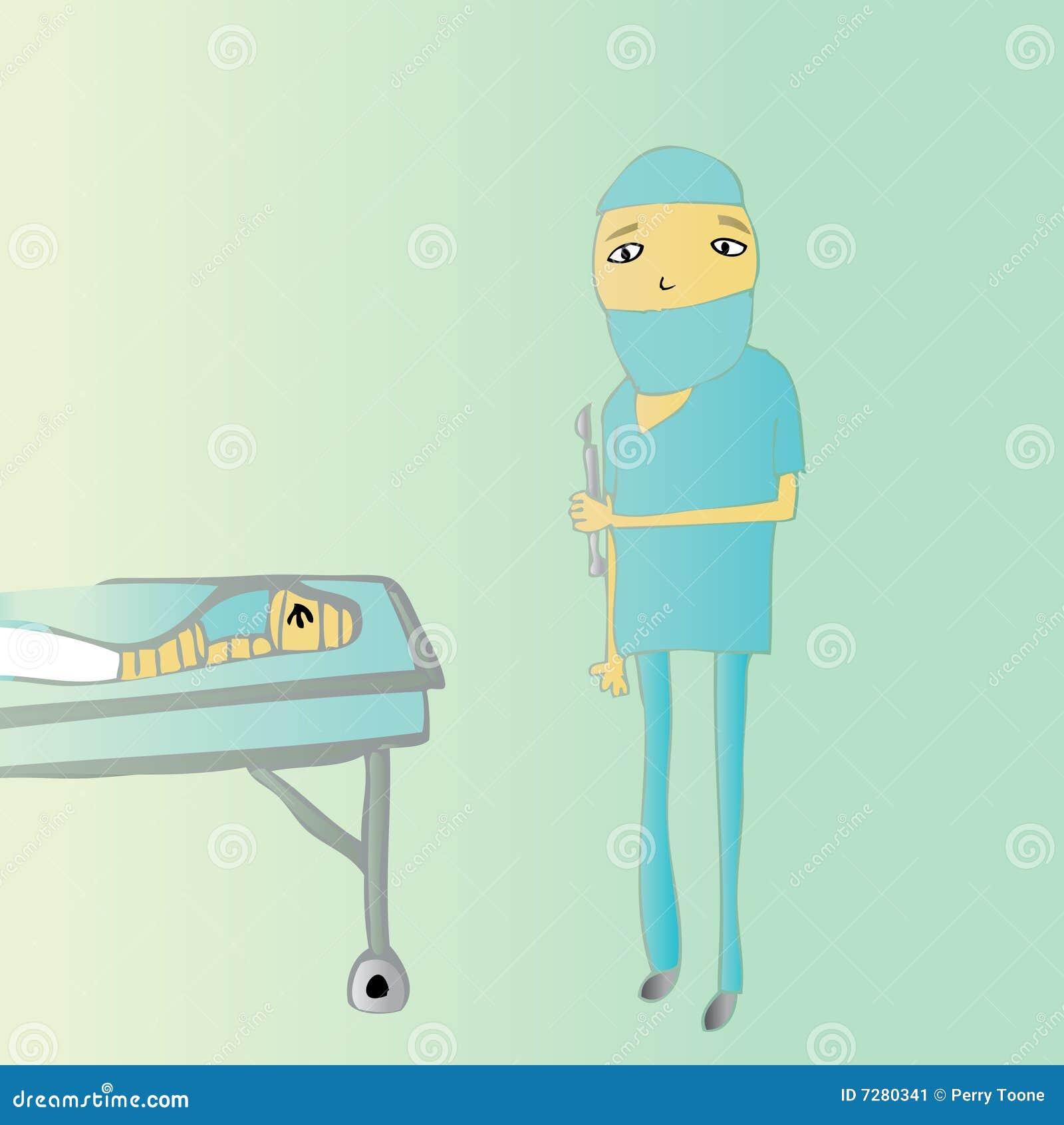 Bajo cirugía del cuchillo