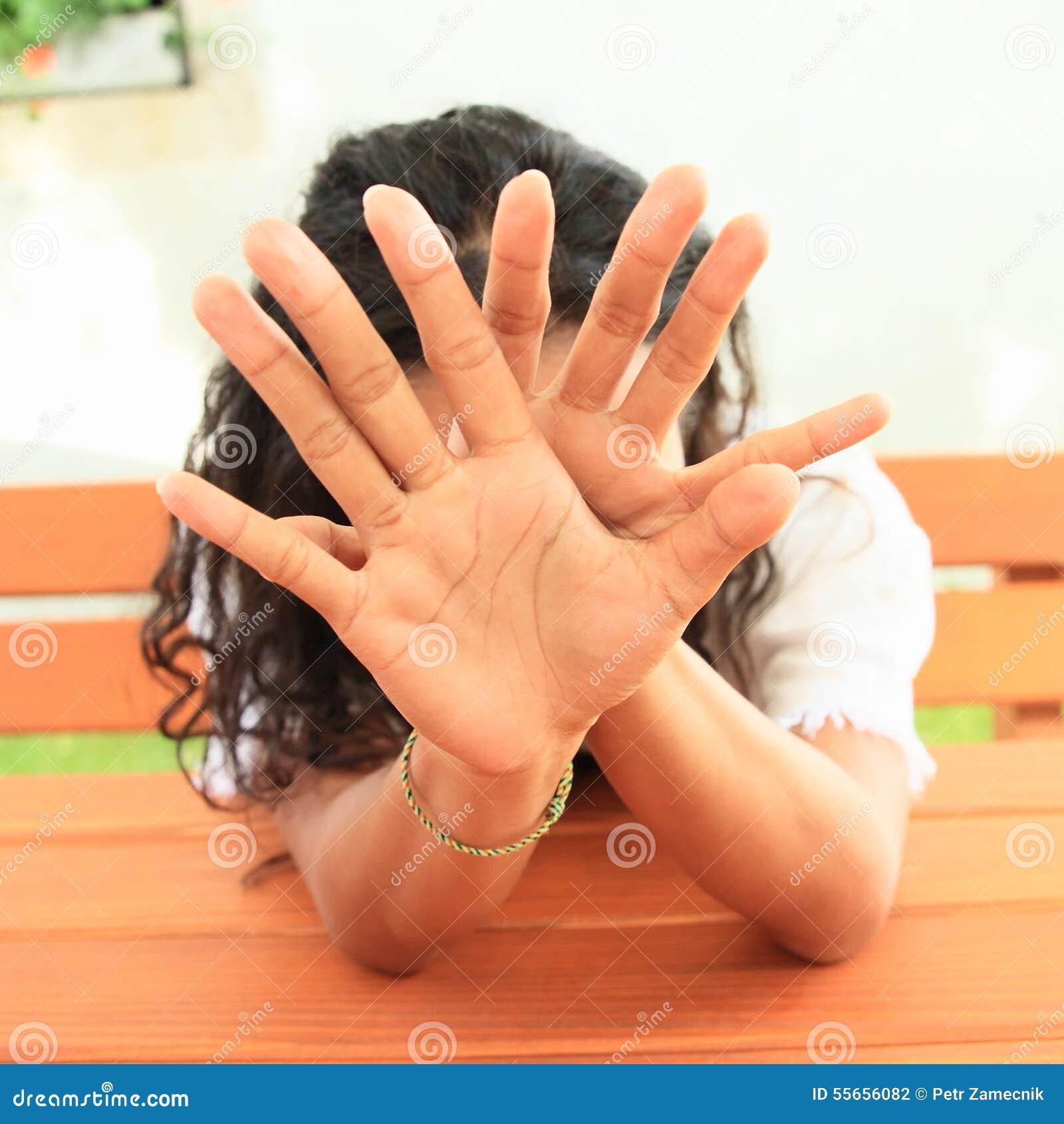 Bak flicka hands nederlag