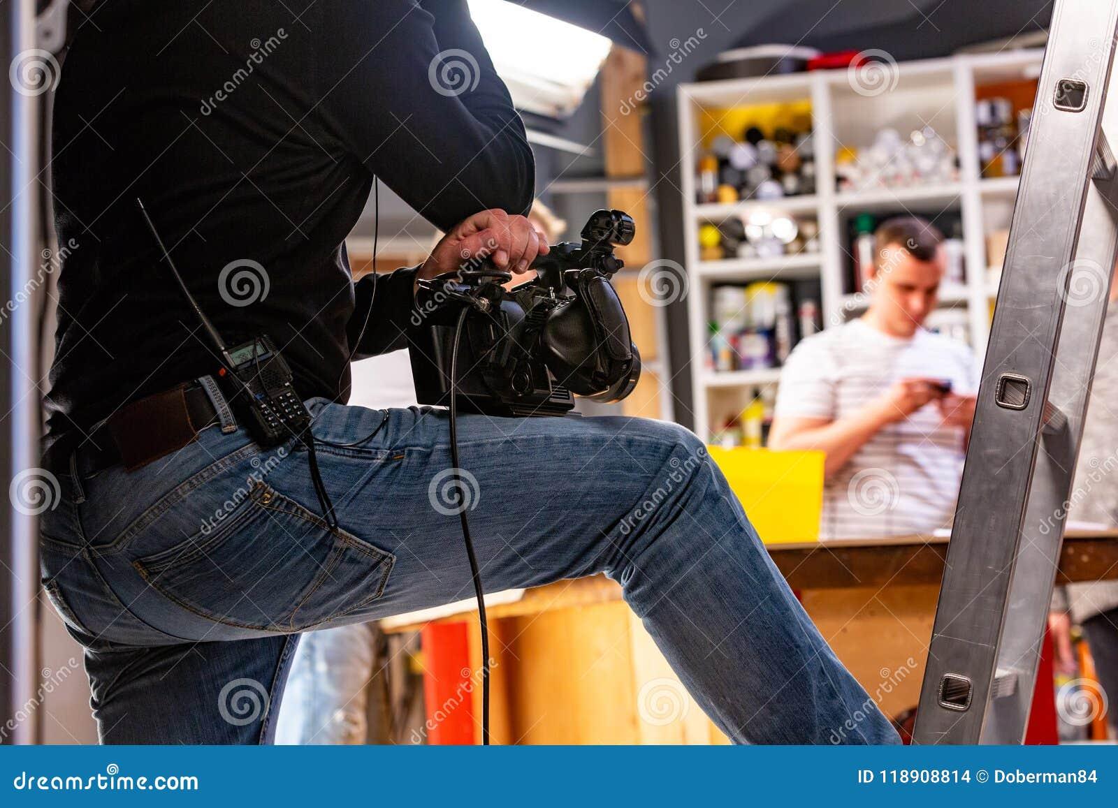 Bak platserna av video produktion- eller videoskytte