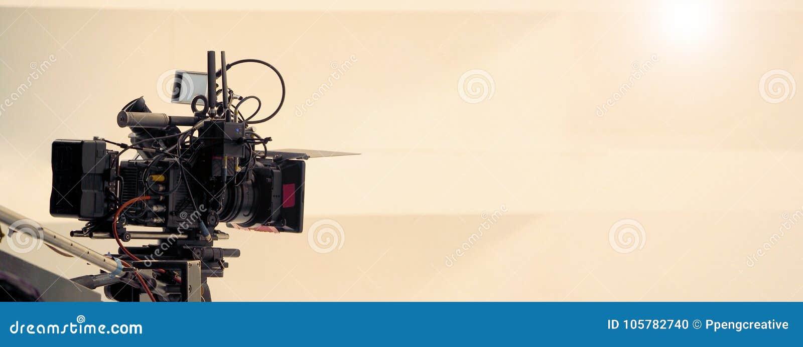 Bak platserna av video skytteproduktion