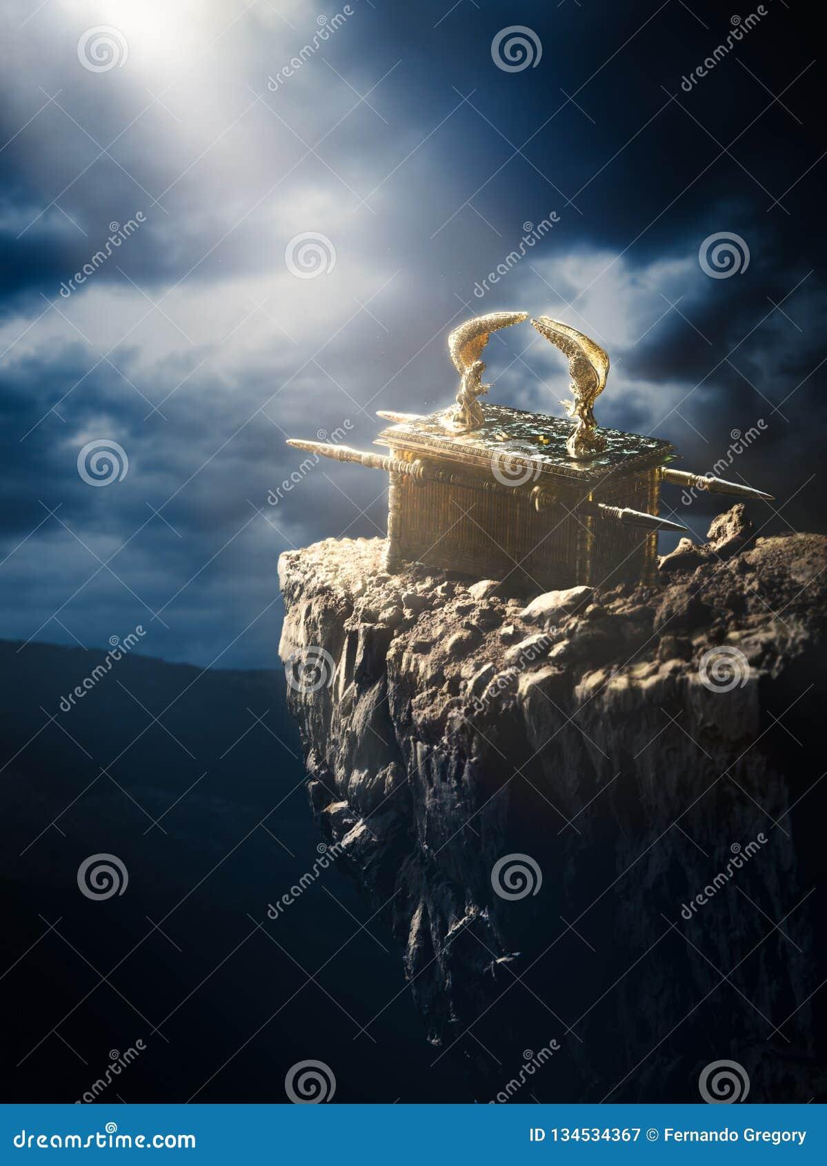 Bak van de overeenkomst bij de bovenkant van een berg/het 3D Teruggeven