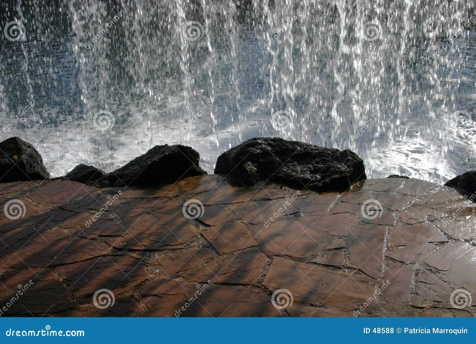 Bak vattenfallet