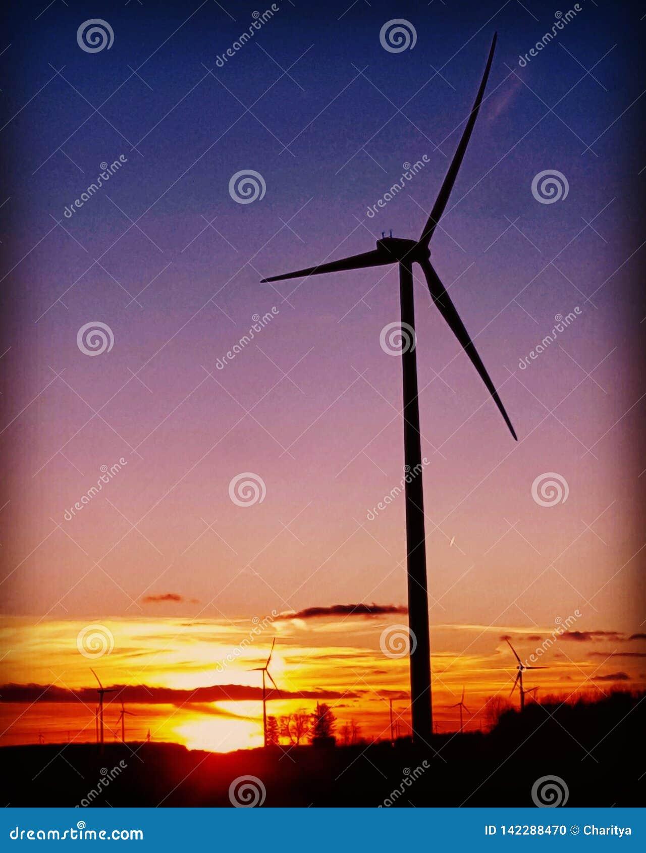 Bak windmillen för france inställningssun