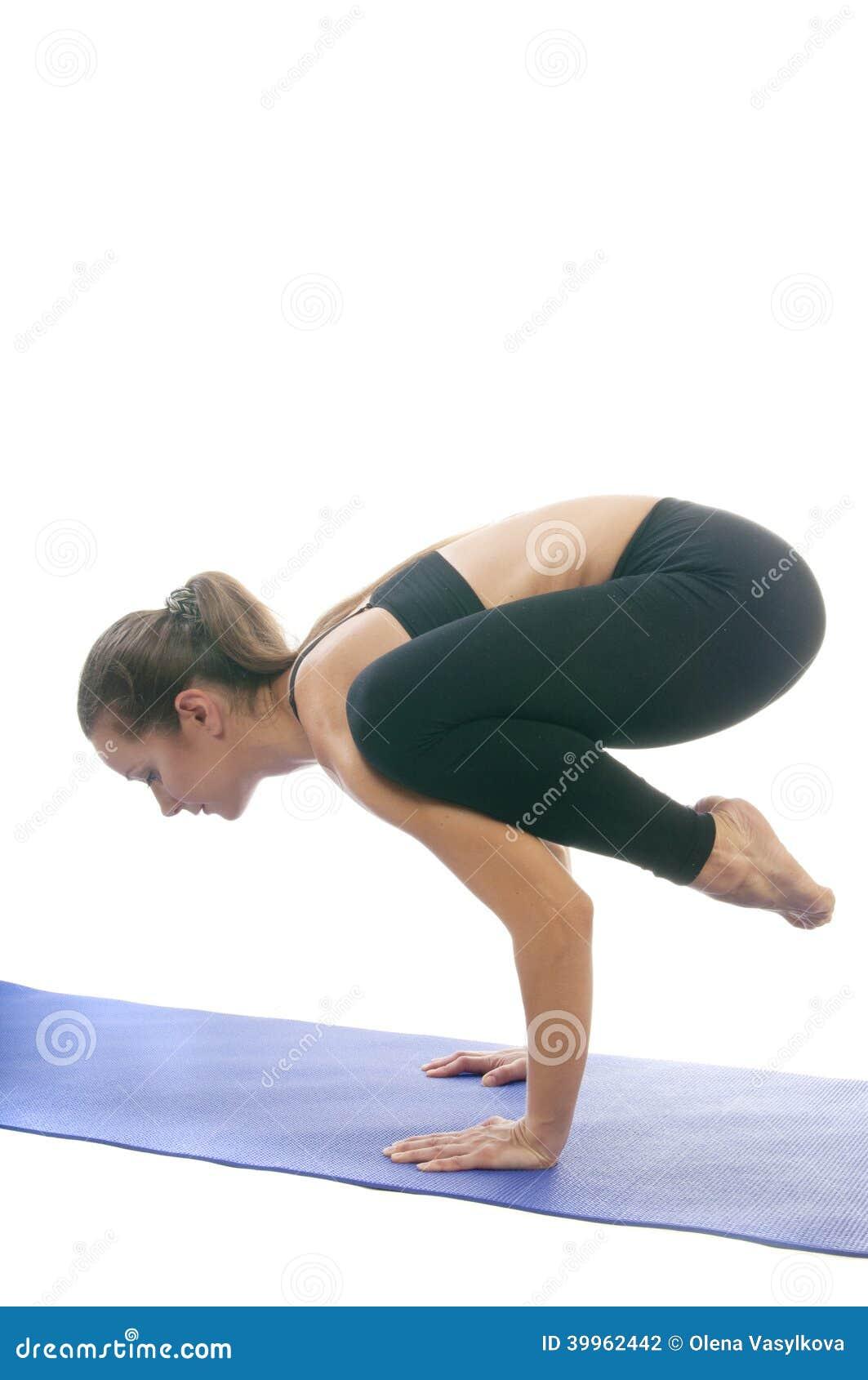 Bakasana stock photo. Image of lifestyle, agility, posture ...
