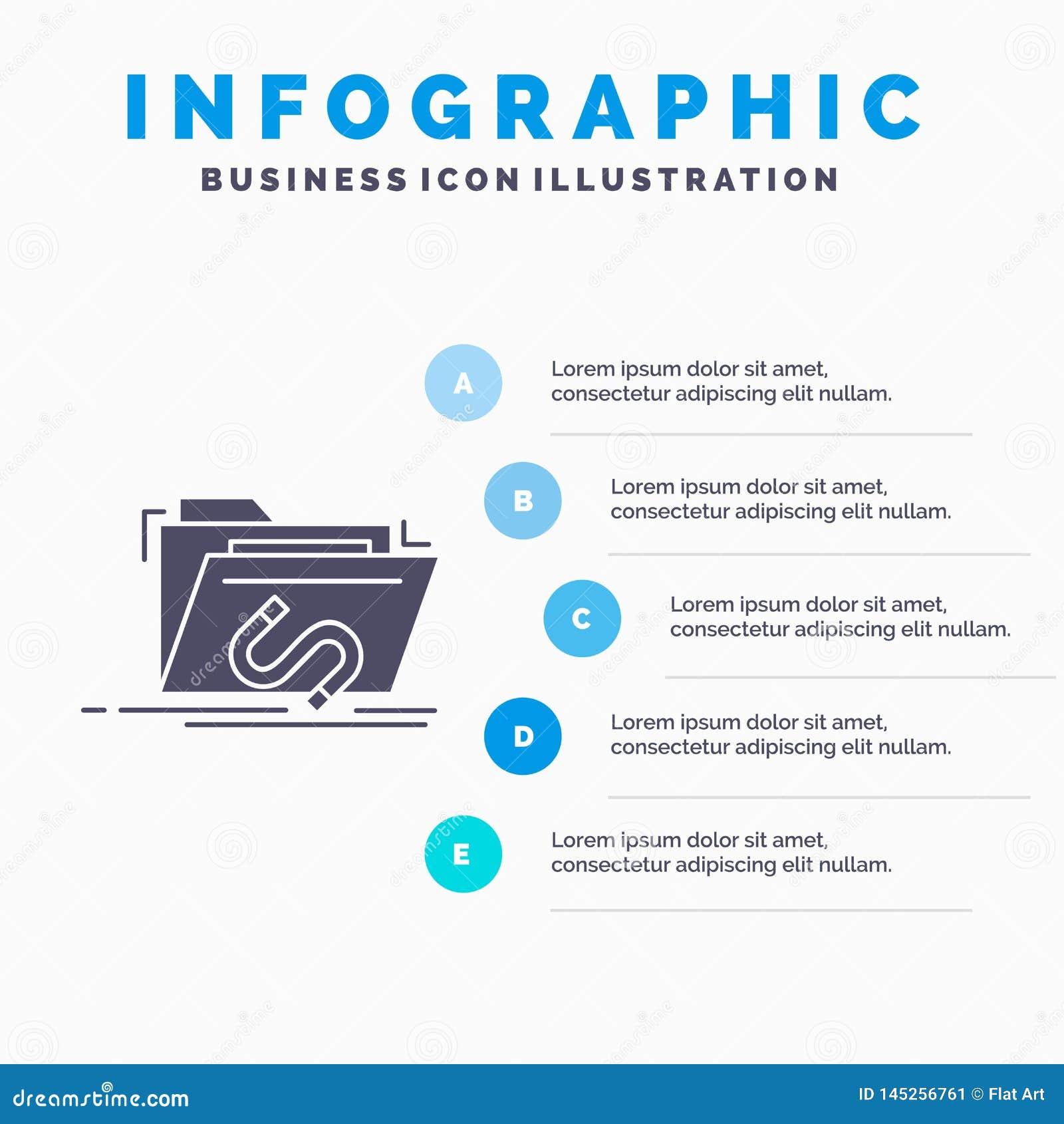 Bakdörr, bedrift, mapp, internet, programvaruInfographics mall för Website och presentation Gr? symbol f?r sk?ra med bl?tt