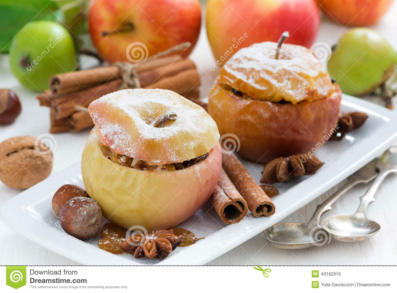 Baked apples with cottage cheese - a favorite dessert 74