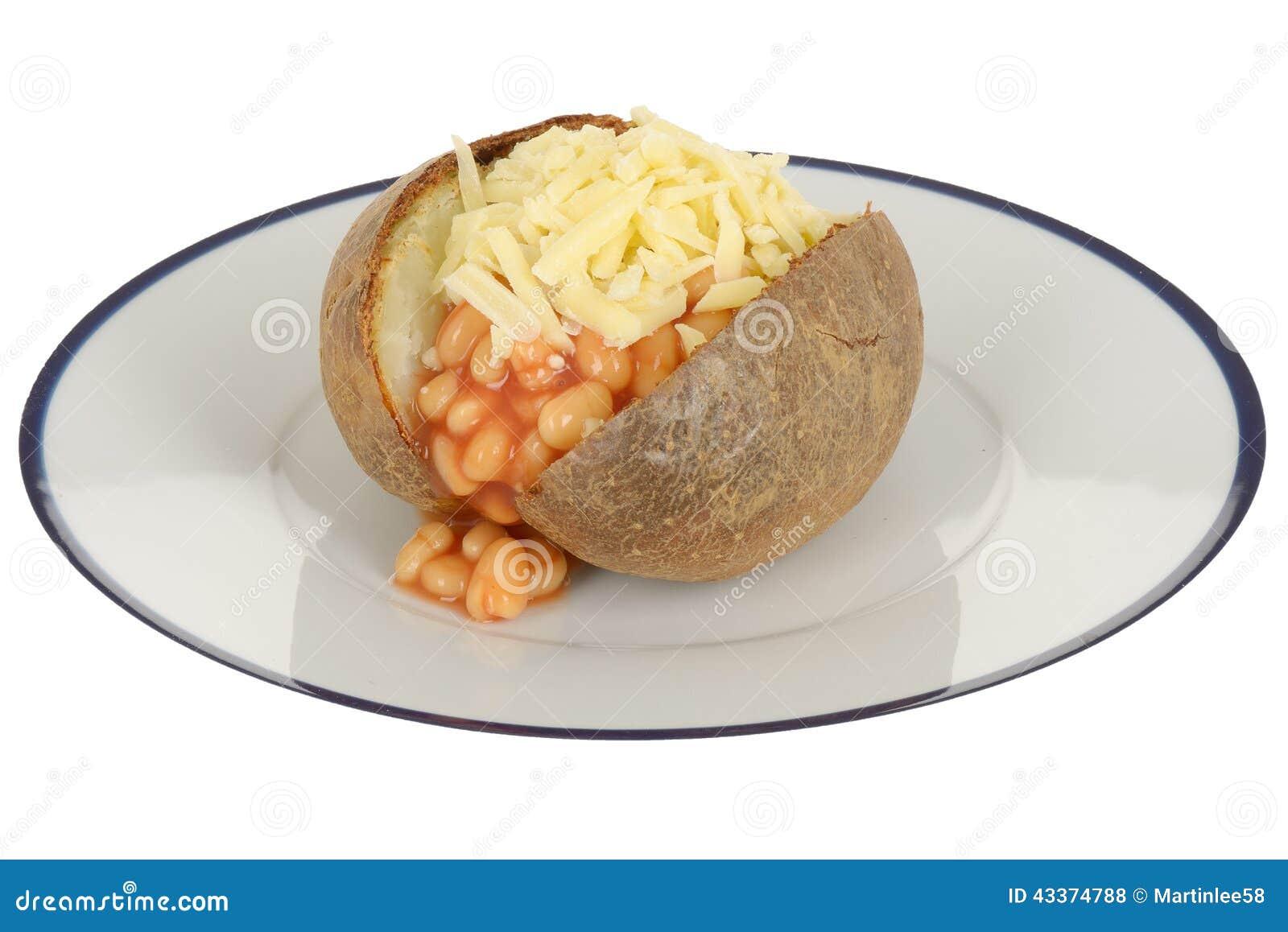 Baked Beans And Cheese Jacket Potato Stock Photo Image Of Potato