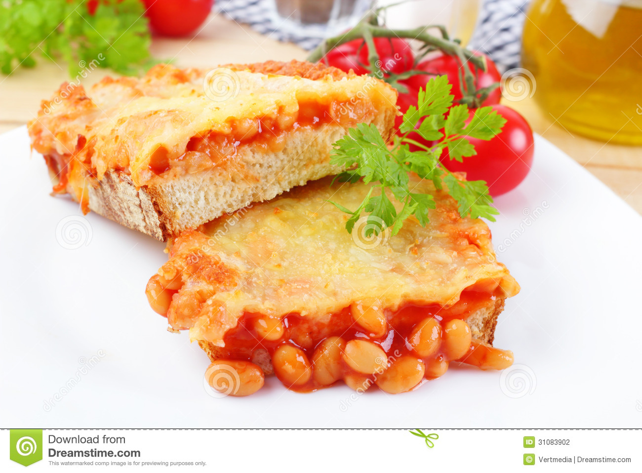 recipe: beans on toast with cheese [33]