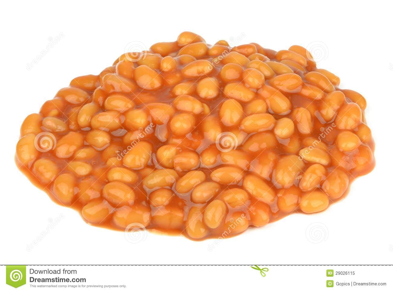 Baked Beans In Tomato Sauce Stock Image - Image: 29026115