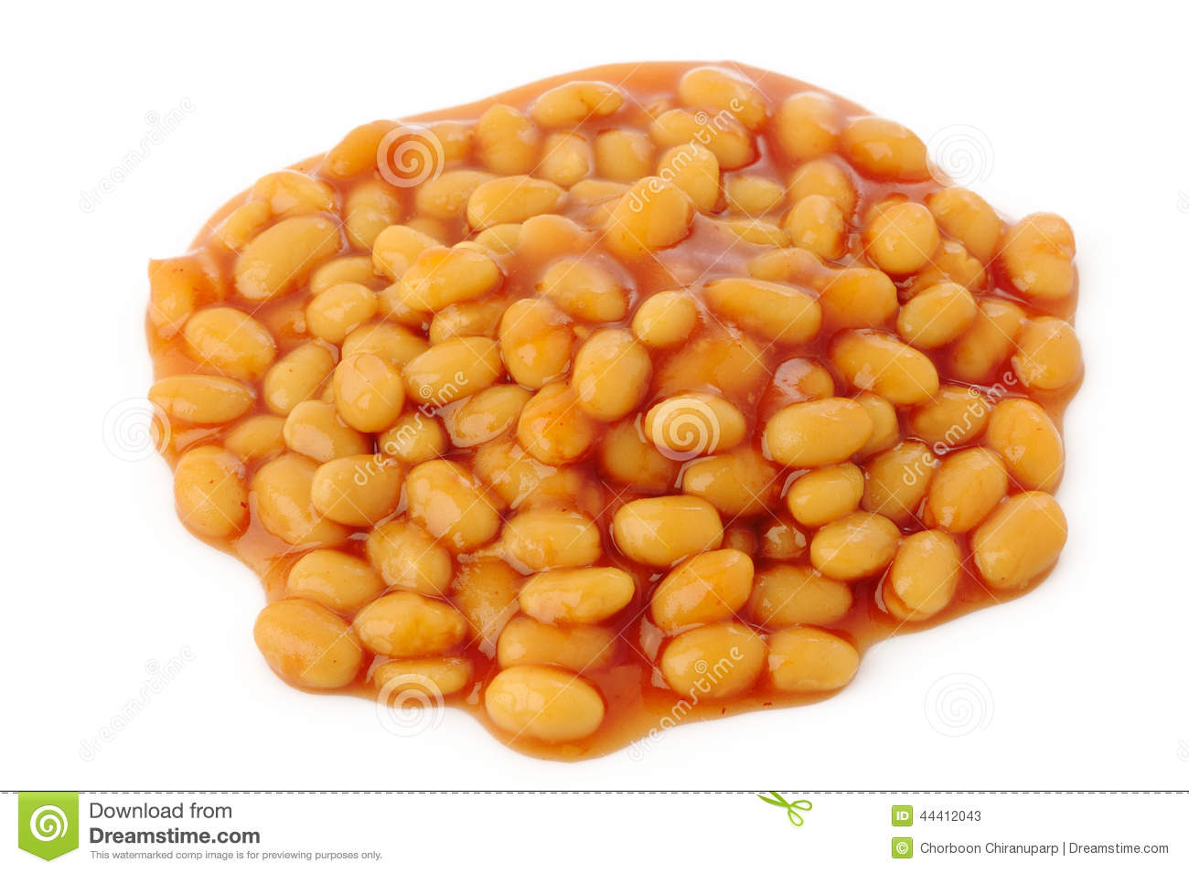 Baked Beans In Tomato Sauce Stock Photo - Image: 44412043
