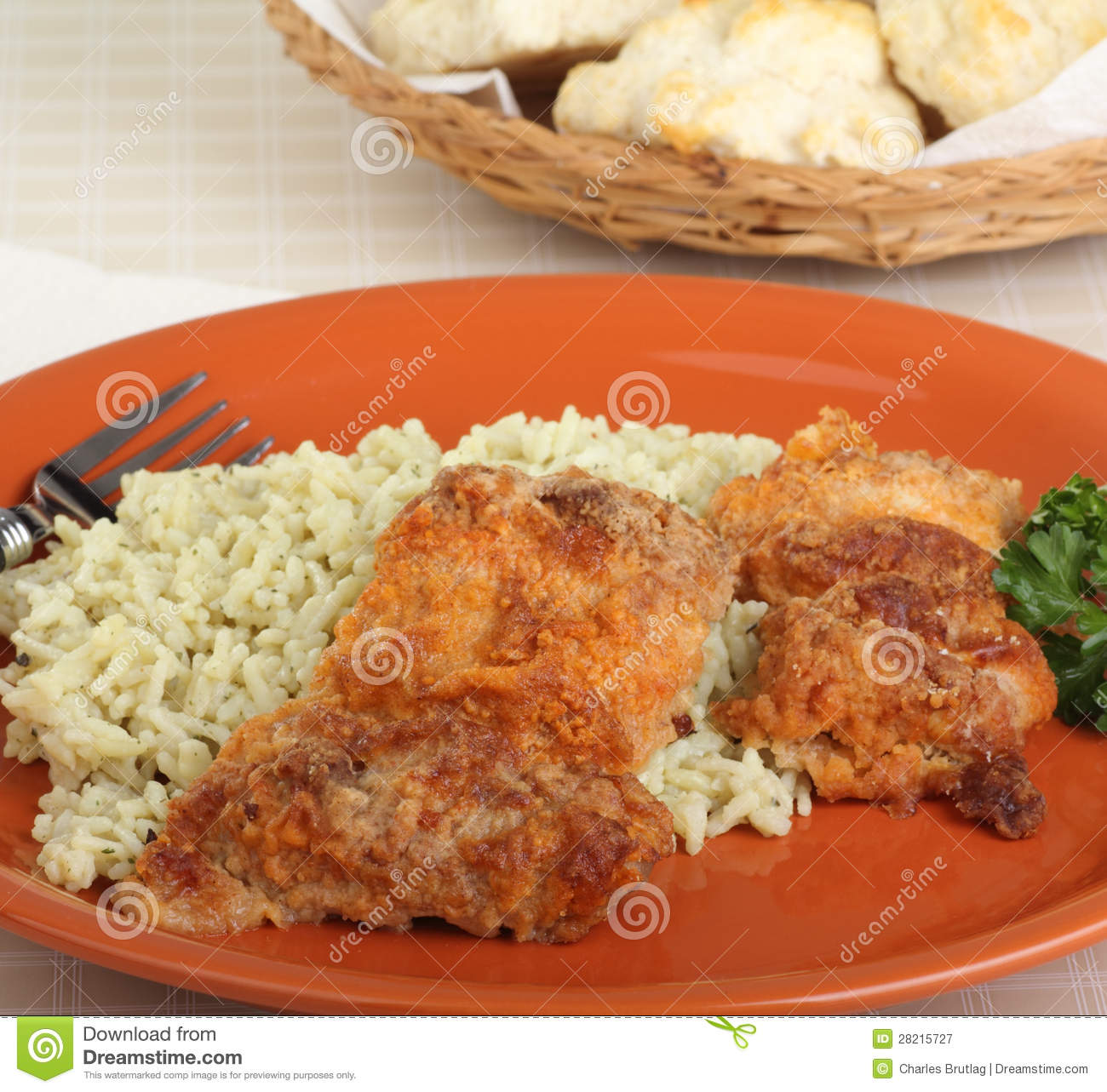 Baked Chicken Dinner Royalty Free Stock Photography - Image: 28215727