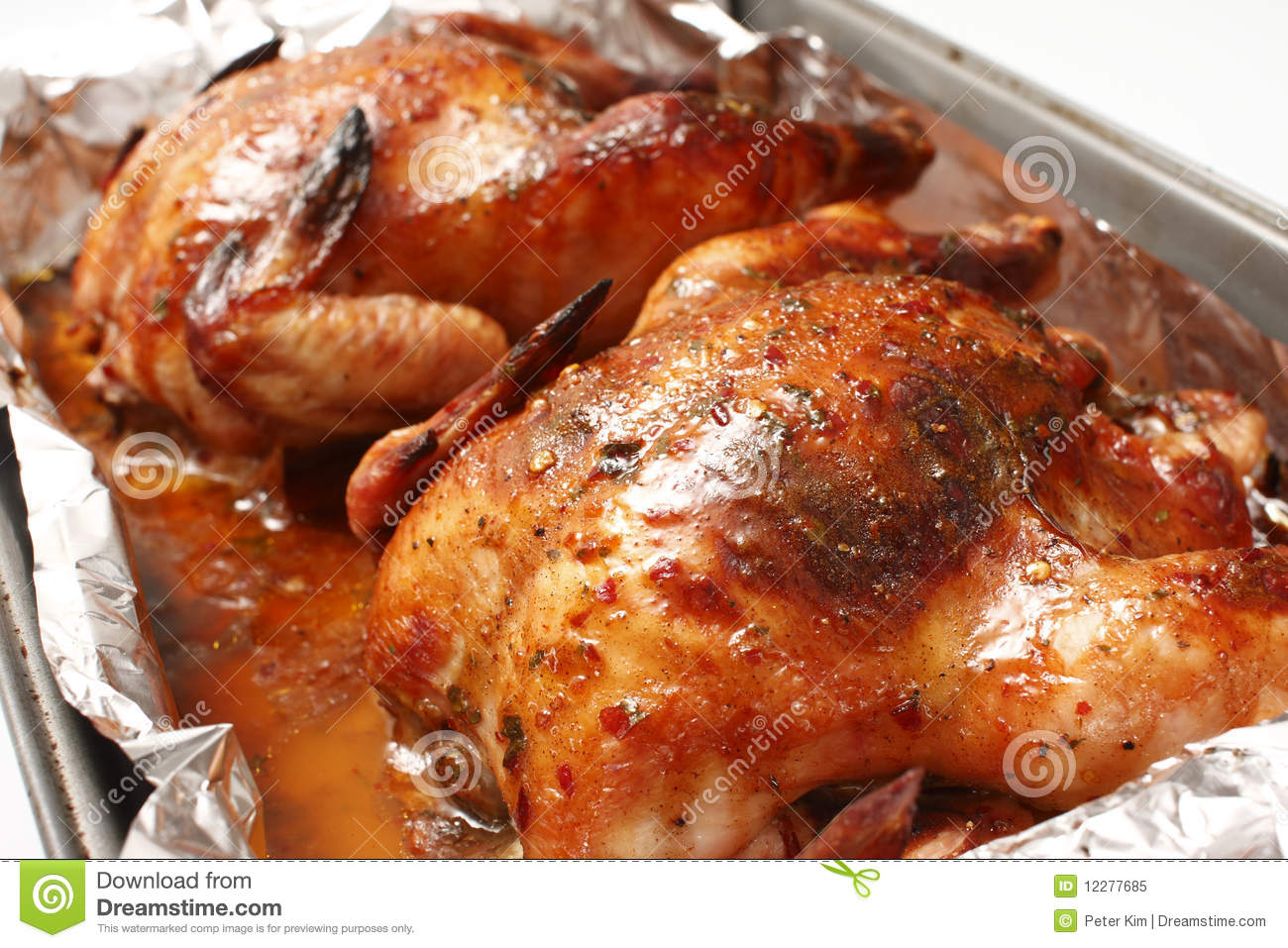 Baked chickens