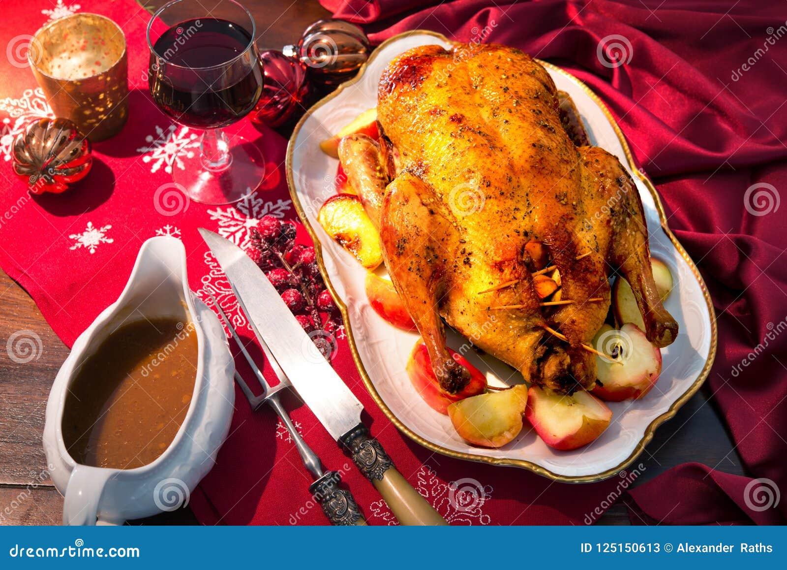 Christmas Duck Recipes.Baked Christmas Duck Stock Image Image Of Christmas 125150613