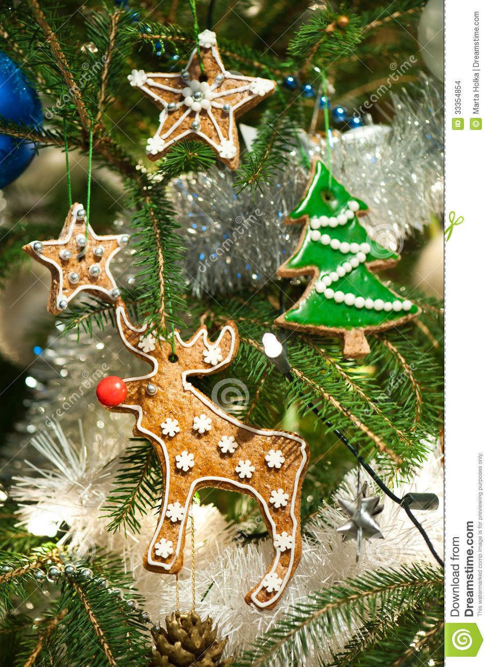 baked christmas tree decoration - Gingerbread Christmas Tree Decorations