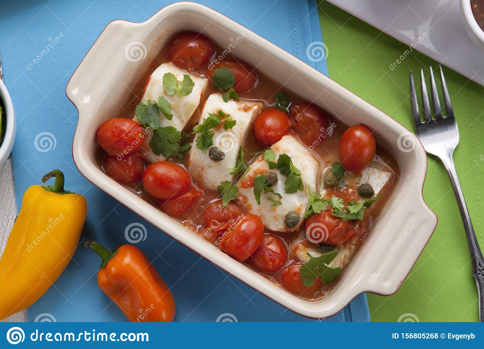 Baked Cod With Tomatoes