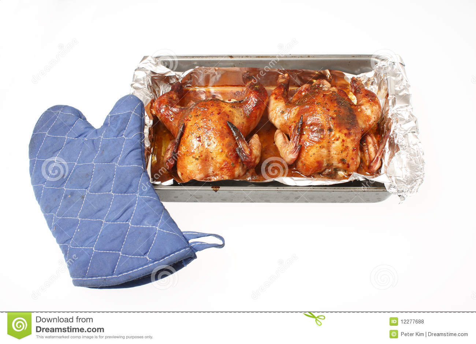 Baked Cornish game hen