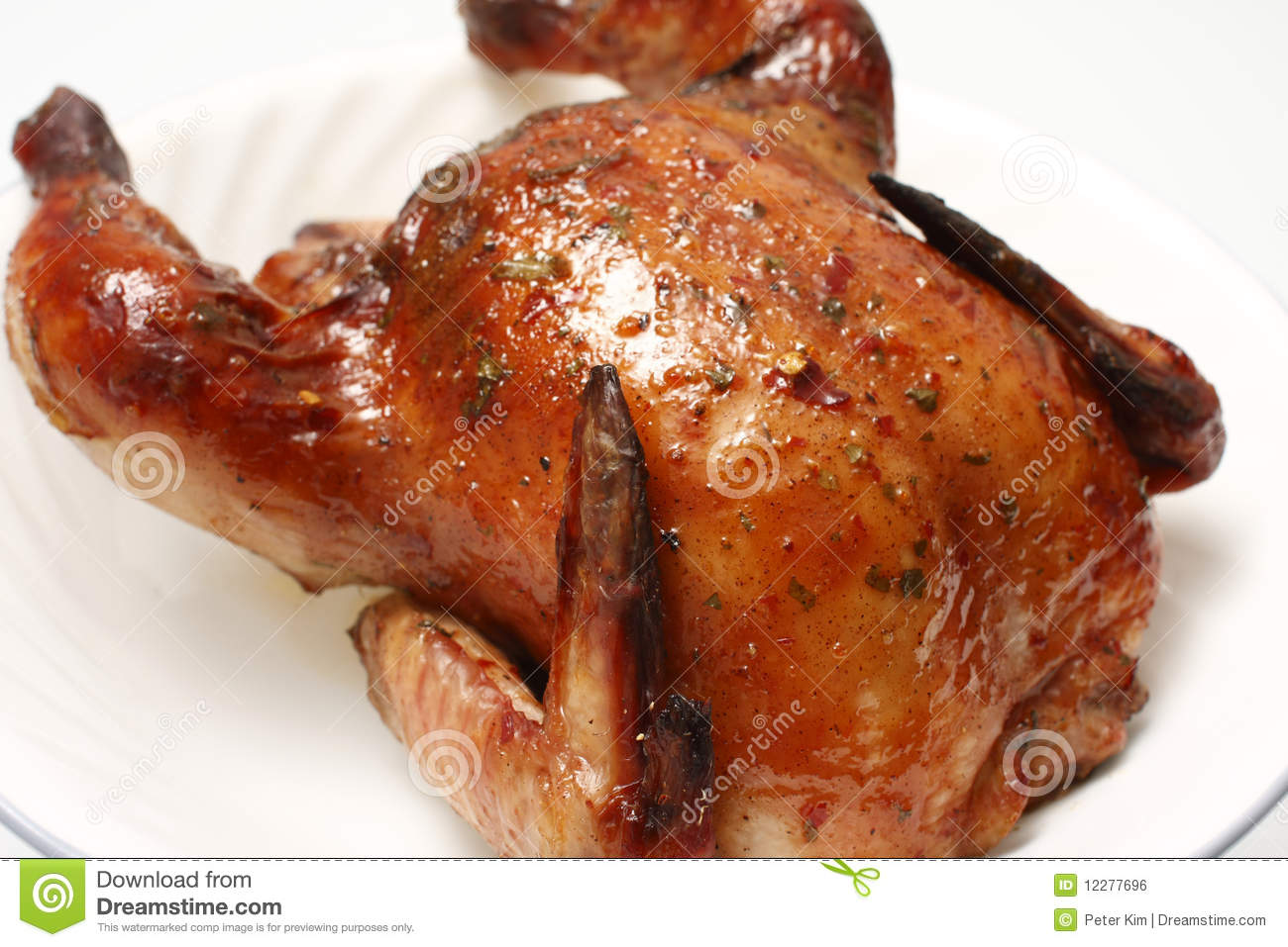 Baked Cornish game hen