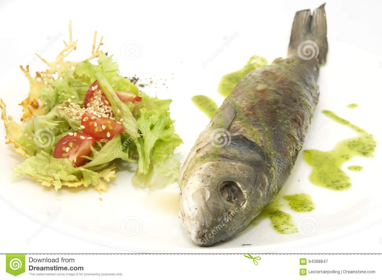 Baked fish with vegetables stock photo image 64368847 for Fish with vegetables