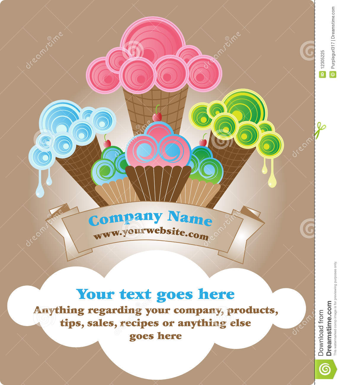 baked goods template royalty stock photo image 12305225 baked goods template