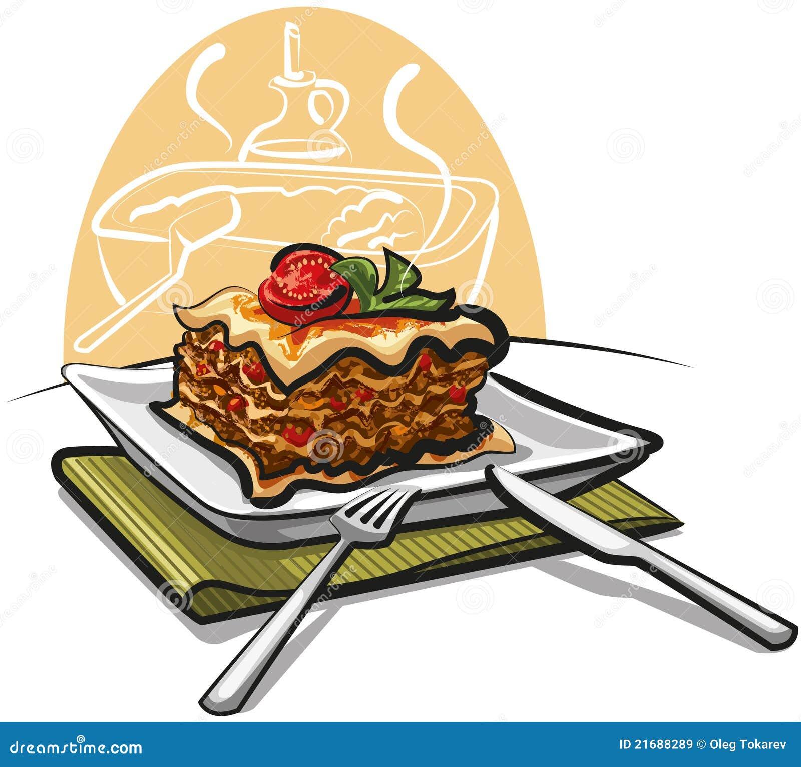 Baked Lasagna Royalty Free Stock Images - Image: 21688289